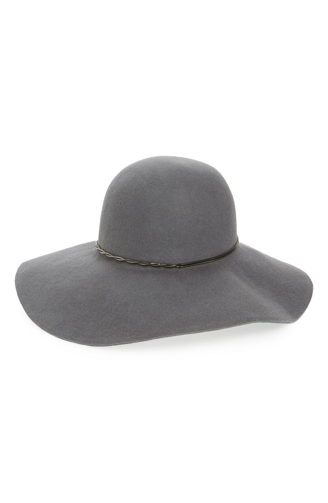 Main Image - Halogen® Chain Band Floppy Hat