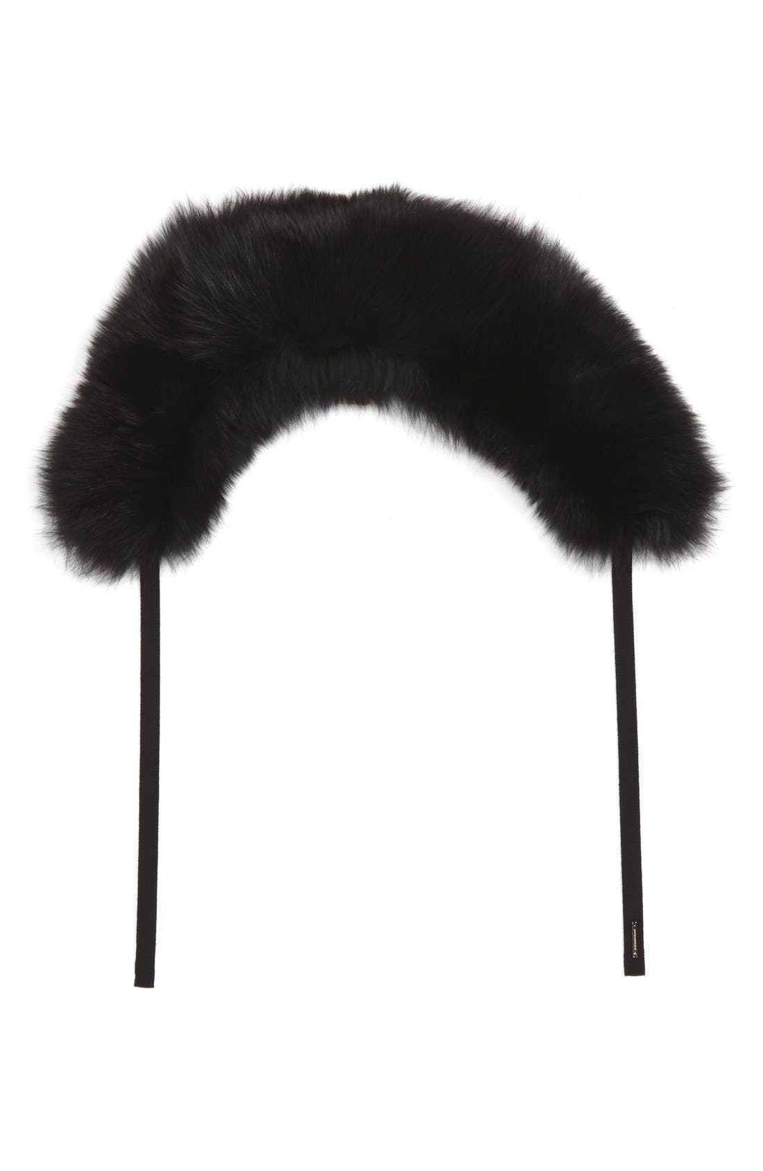 Alternate Image 1 Selected - Burberry Genuine Fox Fur Collar