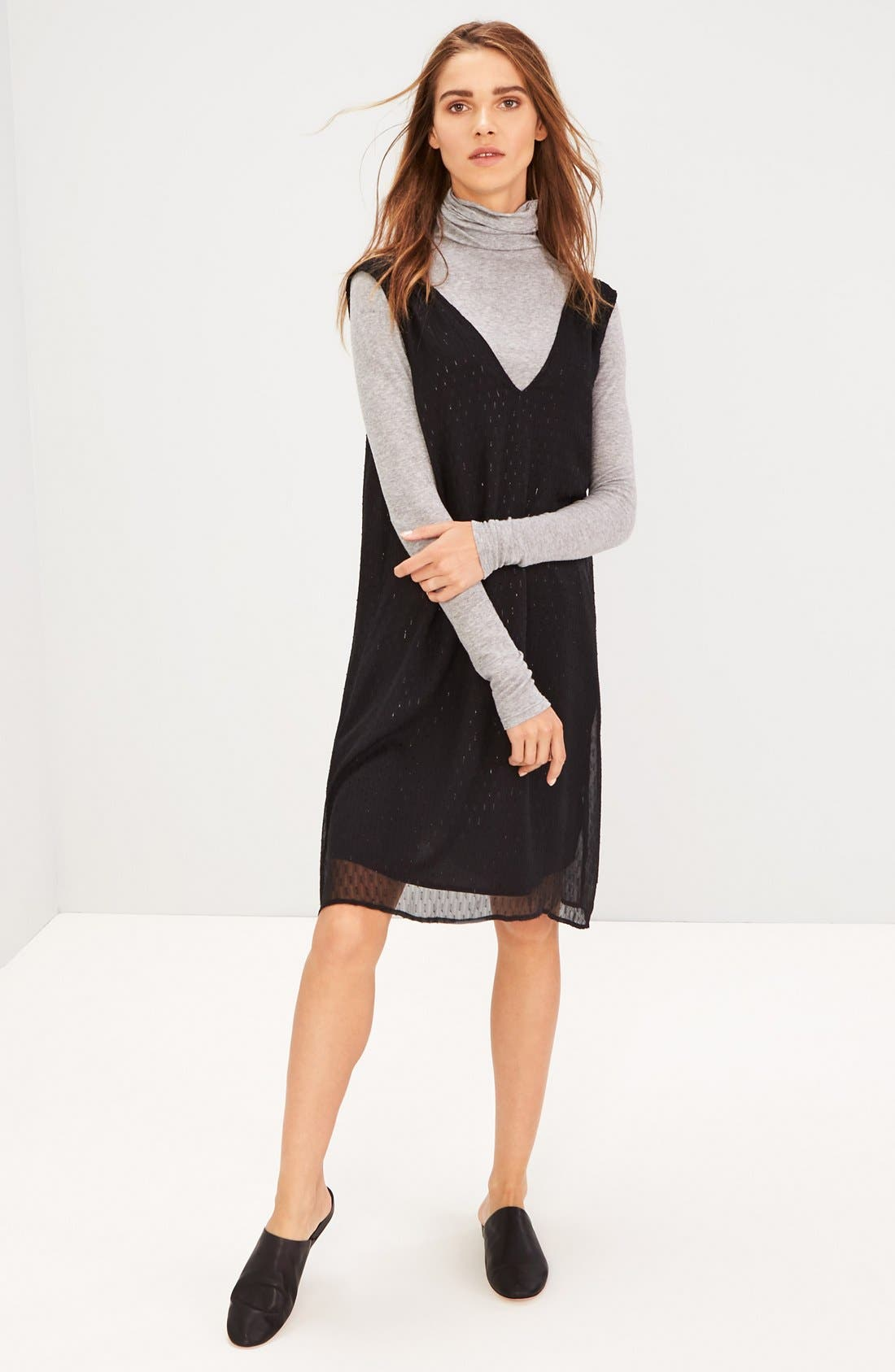 Madewell Dress & Chelsea28 Turtleneck Outfit with Accessories
