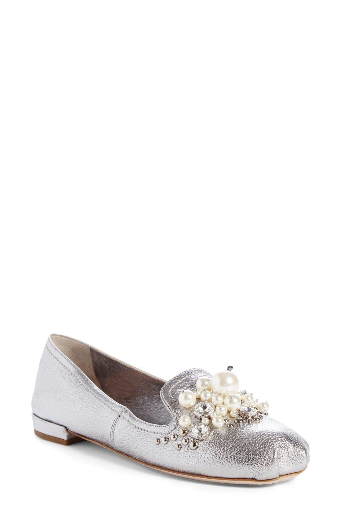 Miu Miu Embellished Loafer (Women)