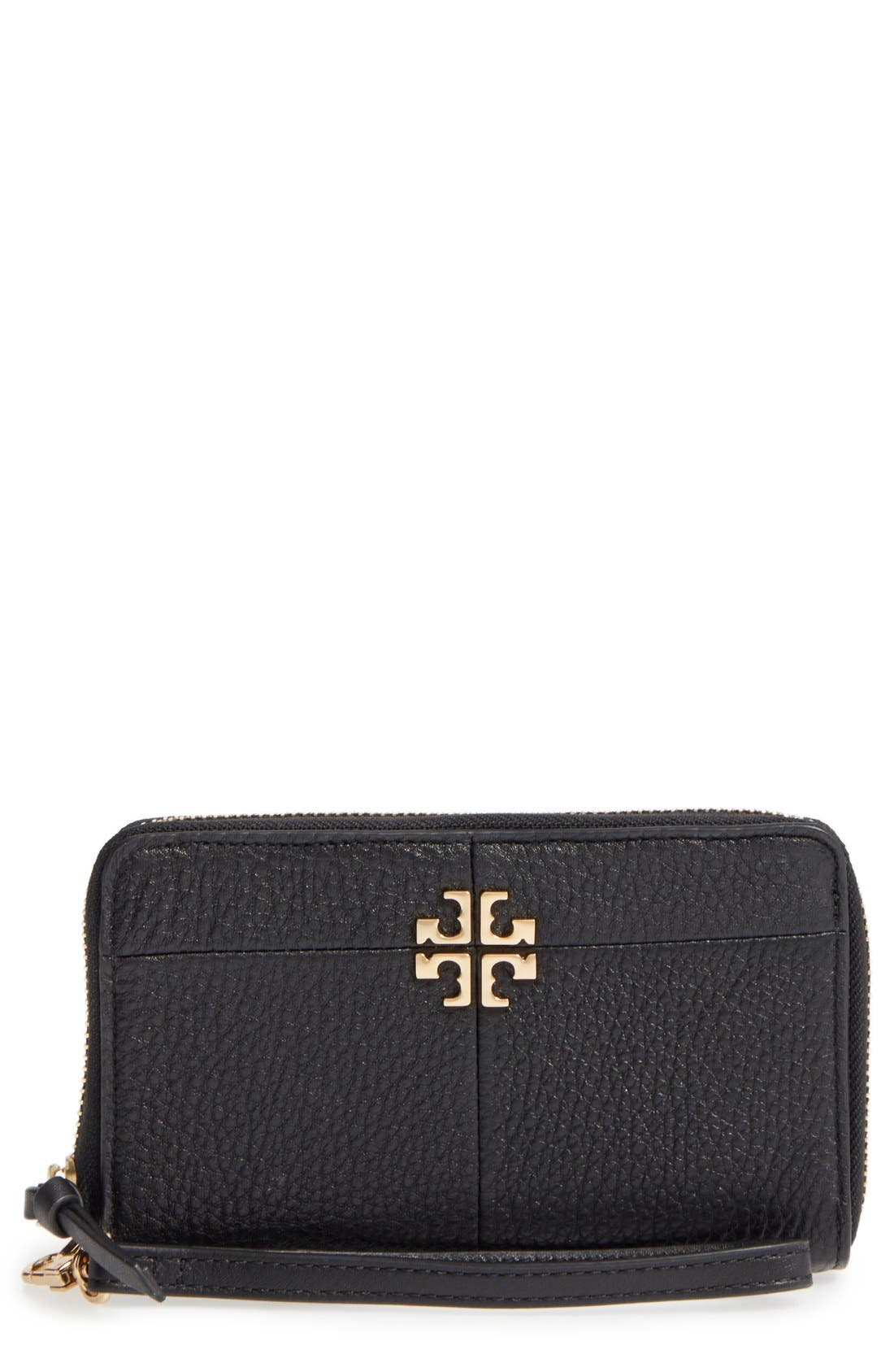 Main Image - Tory Burch Ivy Leather Smartphone Wristlet