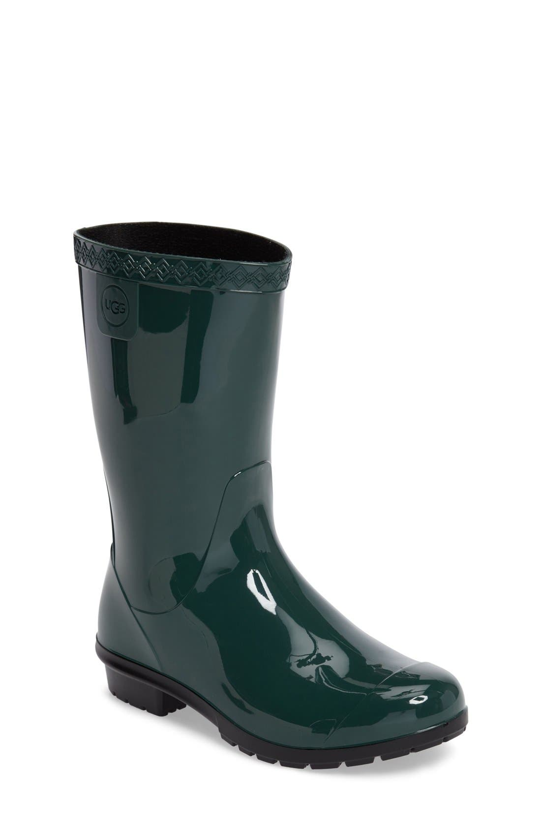 Alternate Image 1 Selected - UGG® Raana Waterproof Rain Boot (Little Kid & Big Kid)