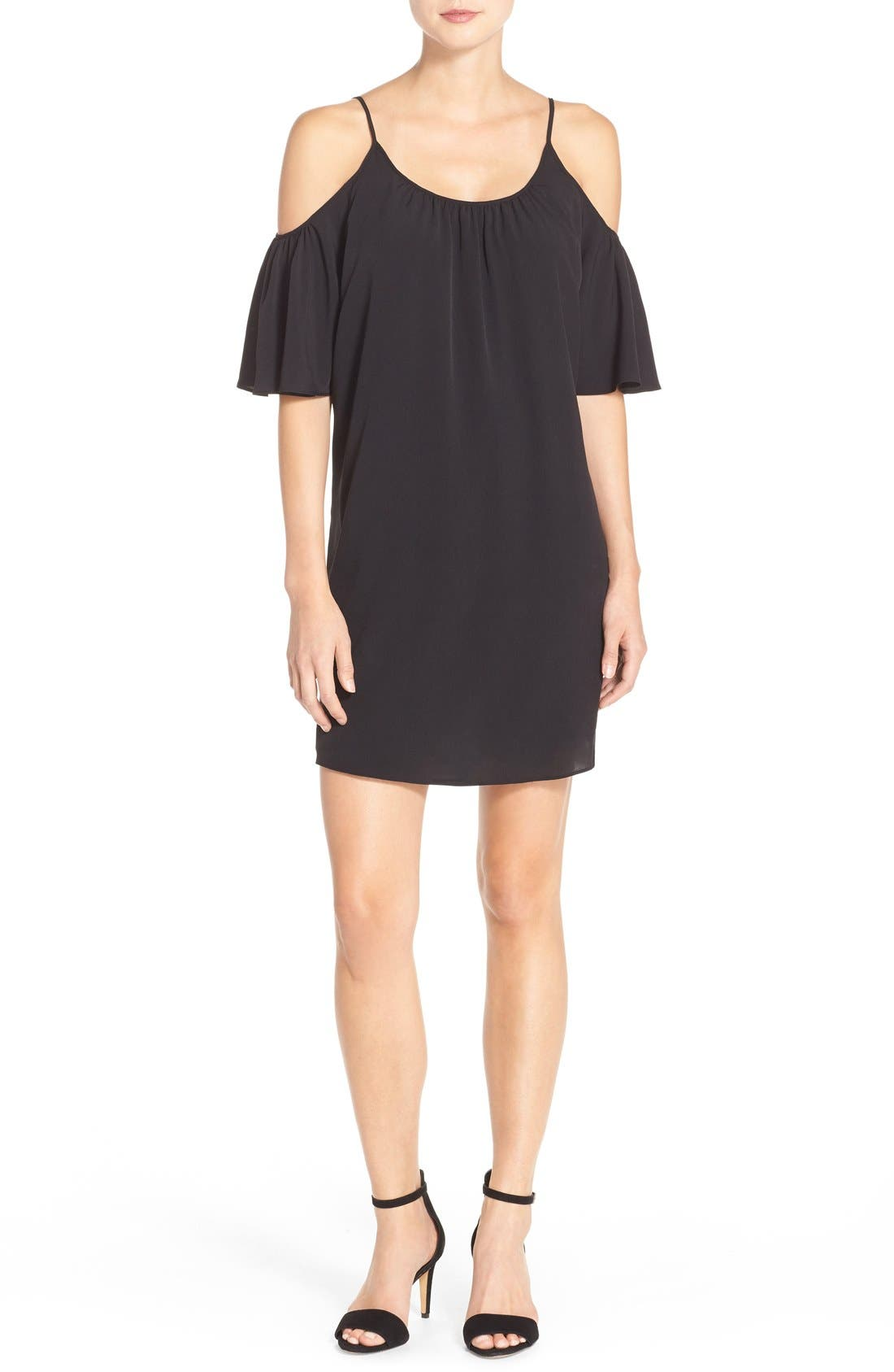 Alternate Image 4  - French Connection 'Polly' Cold Shoulder Shift Dress