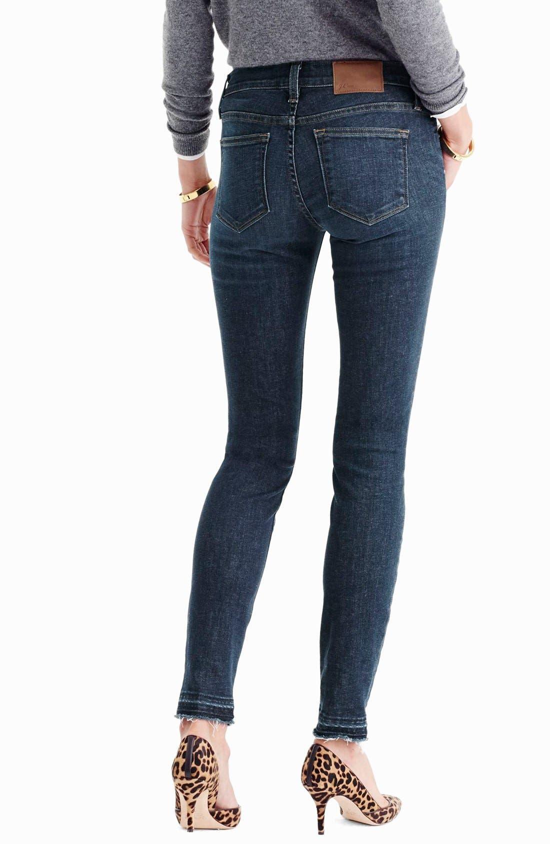 Alternate Image 2  - J.Crew Toothpick Jeans (Point Lake) (Regular and Petite)