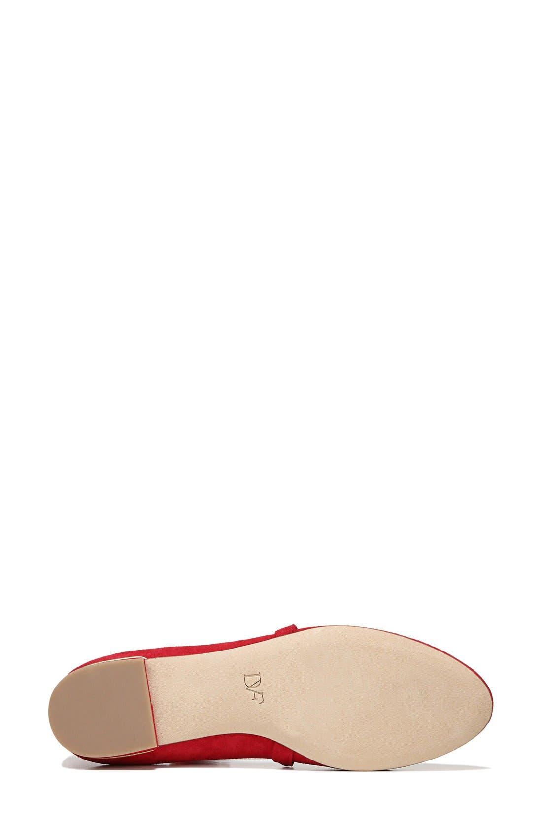 Alternate Image 6  - Diane von Furstenberg Dakar Ankle Tie Flat (Women)