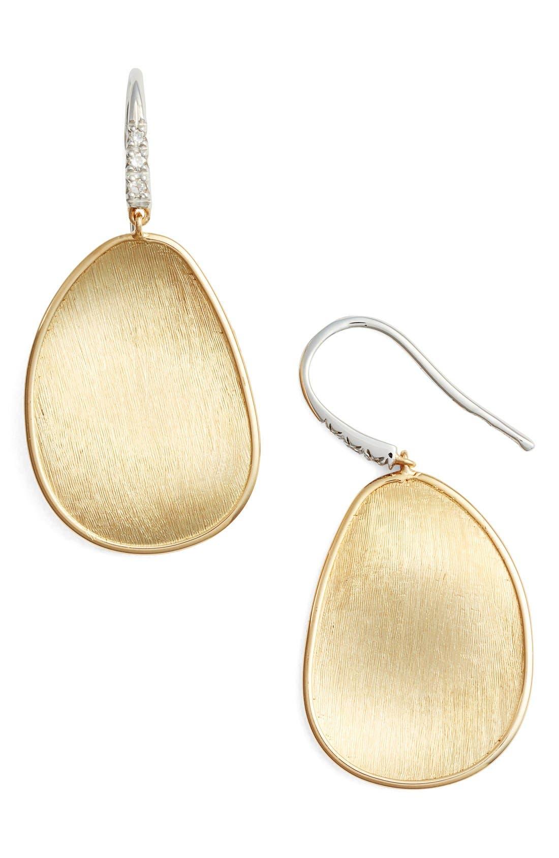 Alternate Image 1 Selected - Marco Bicego Lunaria Diamond & Gold Drop Earrings