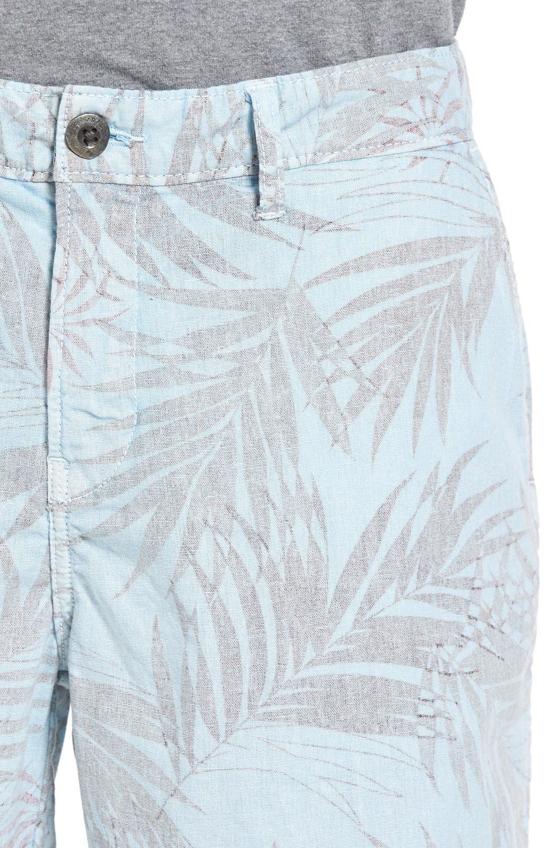 Rio Linen Shorts,                             Alternate thumbnail 4, color,                             Waterfall