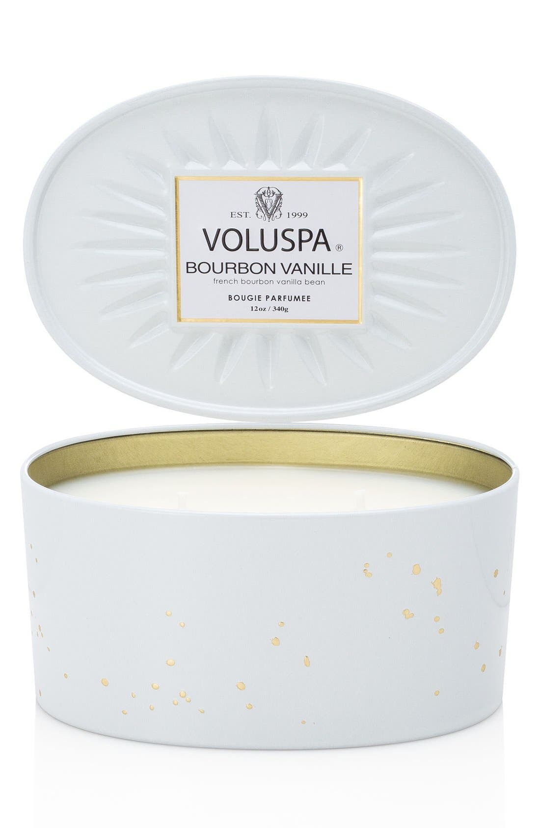 Main Image - Voluspa Vermeil - French Bourbon Vanille Two-Wick Candle