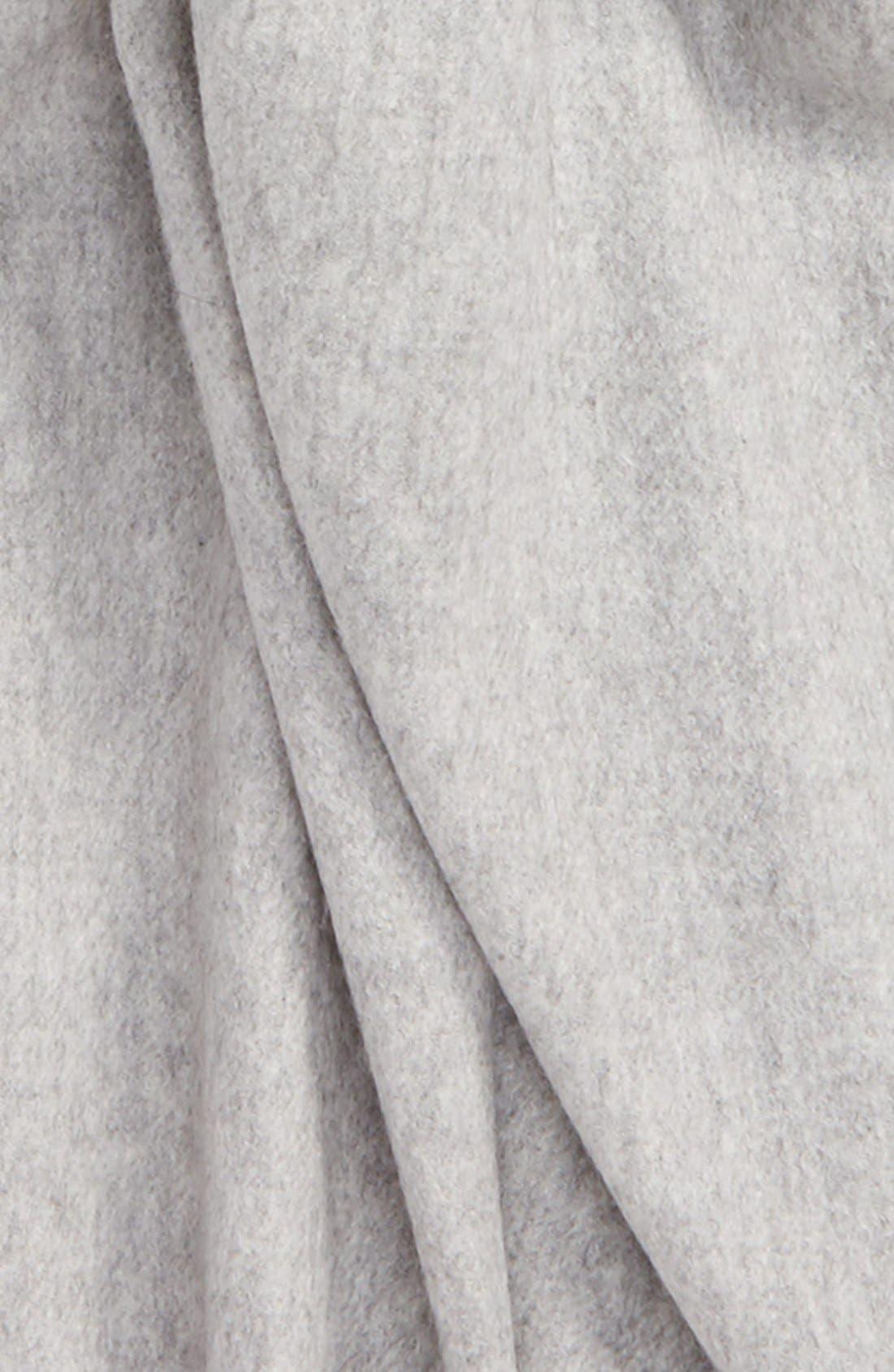 Oversize Cashmere Wrap,                             Alternate thumbnail 3, color,                             Grey Soft Heather