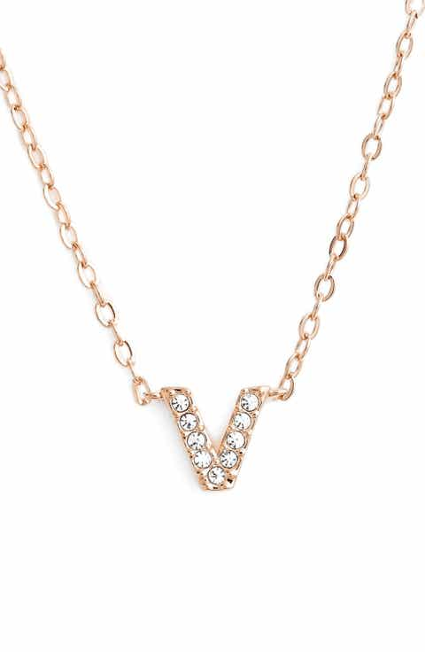 V necklace nordstrom nadri initial pendant necklace aloadofball Image collections