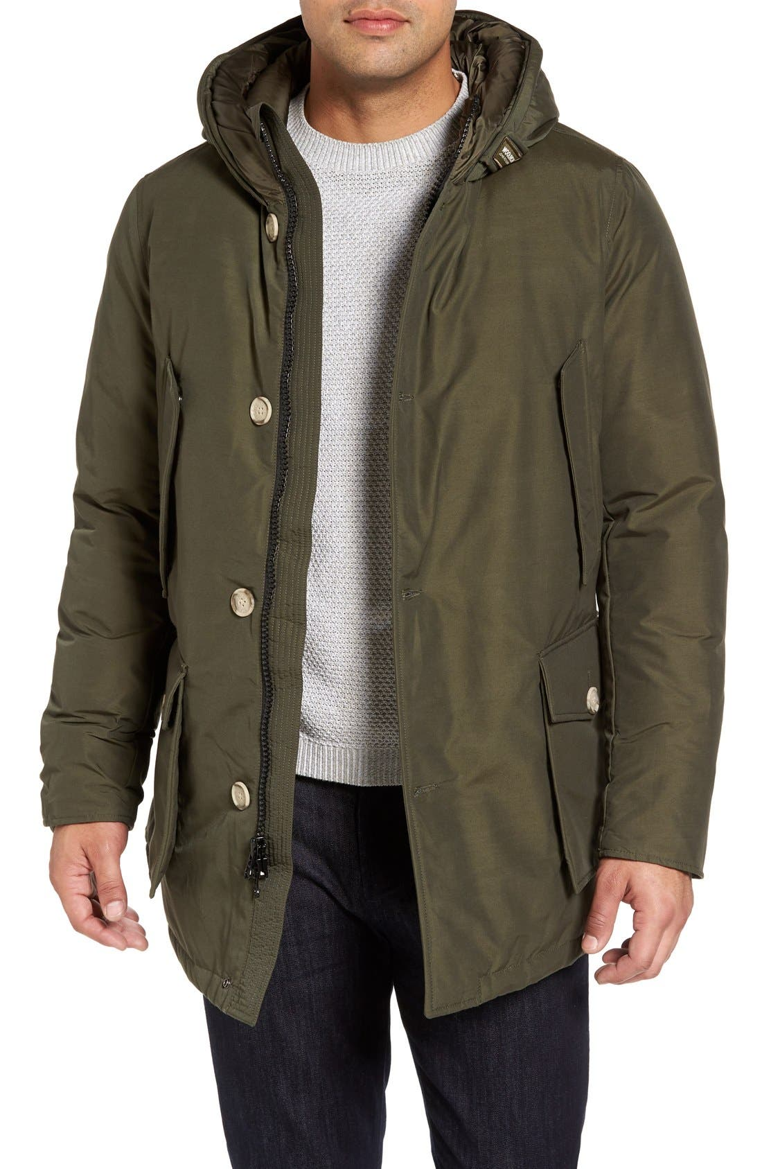 John Rich Down Arctic Parka,                         Main,                         color, Dark Green
