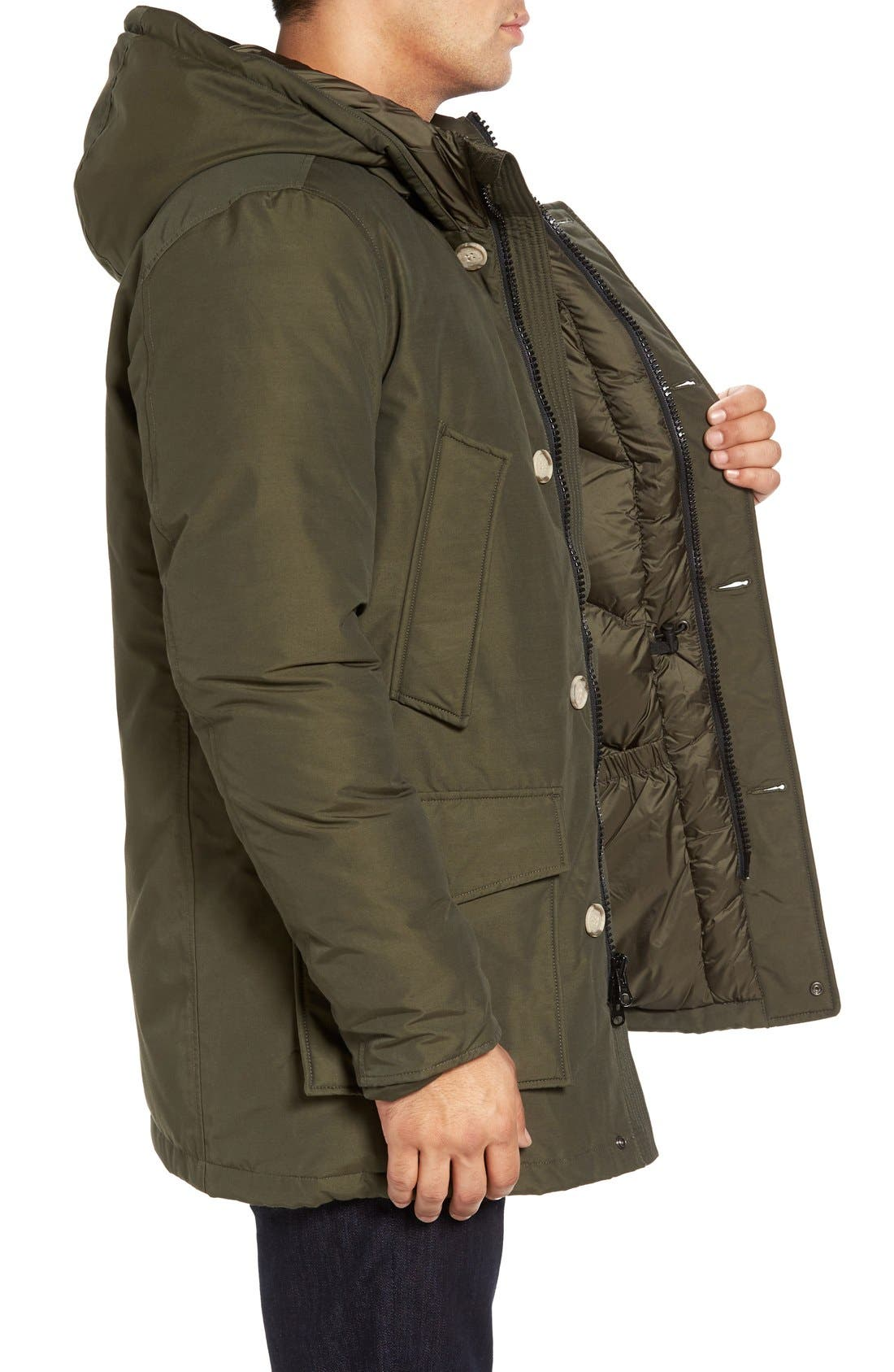John Rich Down Arctic Parka,                             Alternate thumbnail 3, color,                             Dark Green