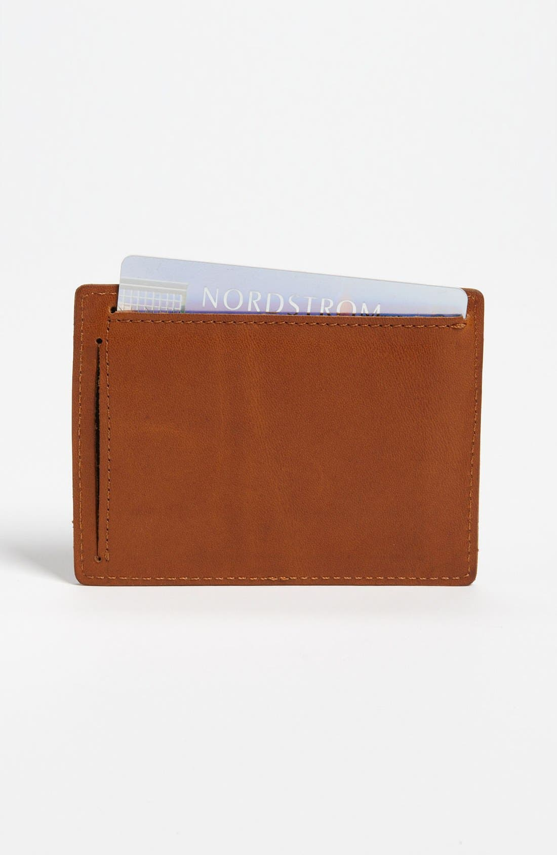 Leather Card Case,                             Alternate thumbnail 2, color,                             Brown