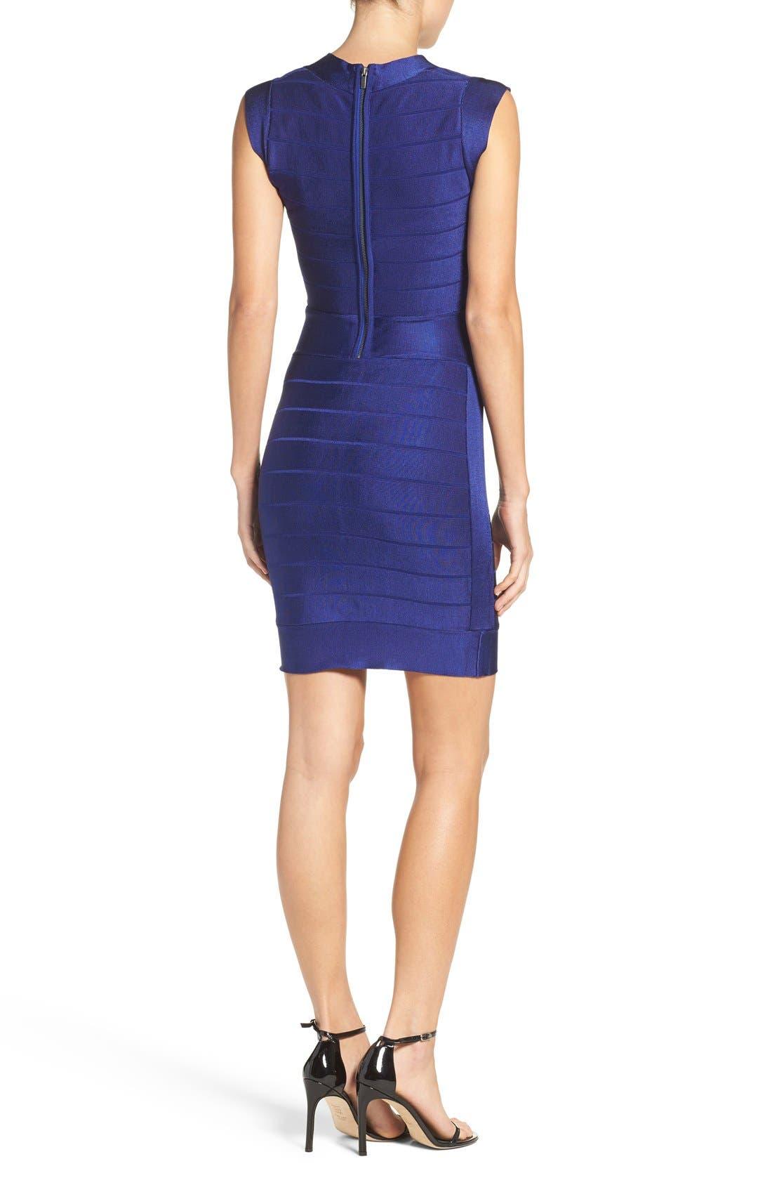 Spotlight Bandage Dress,                             Alternate thumbnail 2, color,                             Maya Blue