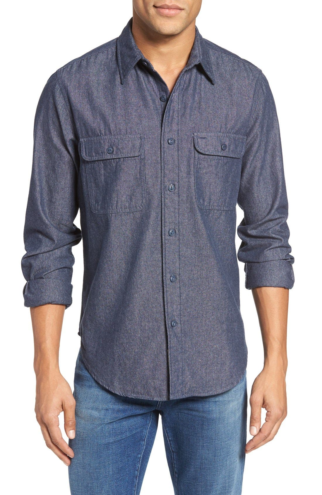 Alternate Image 1 Selected - Schott NYC Classic Fit Sport Shirt