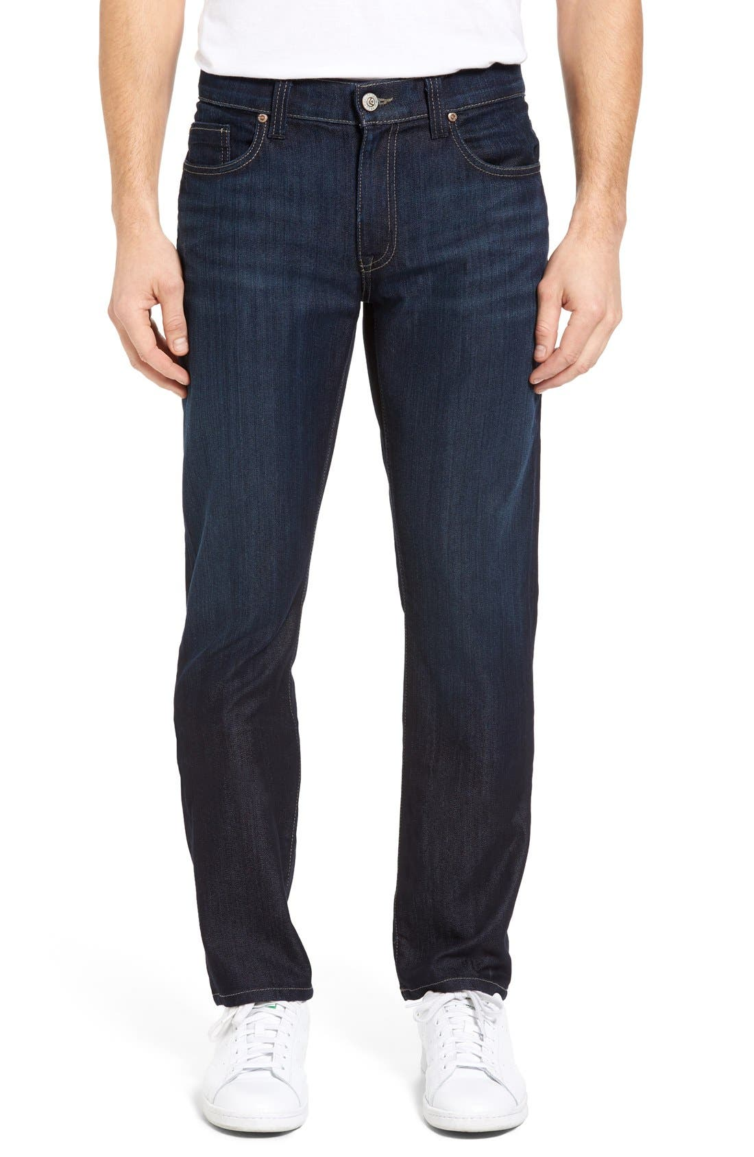 Impala Straight Leg Jeans,                             Main thumbnail 1, color,                             Lunar Blue