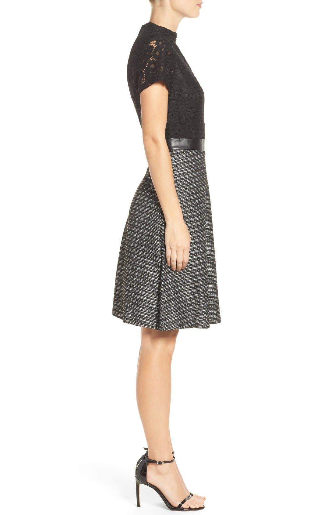 Alternate Image 3  - Ellen Tracy Fit & Flare Dress (Regular & Petite)