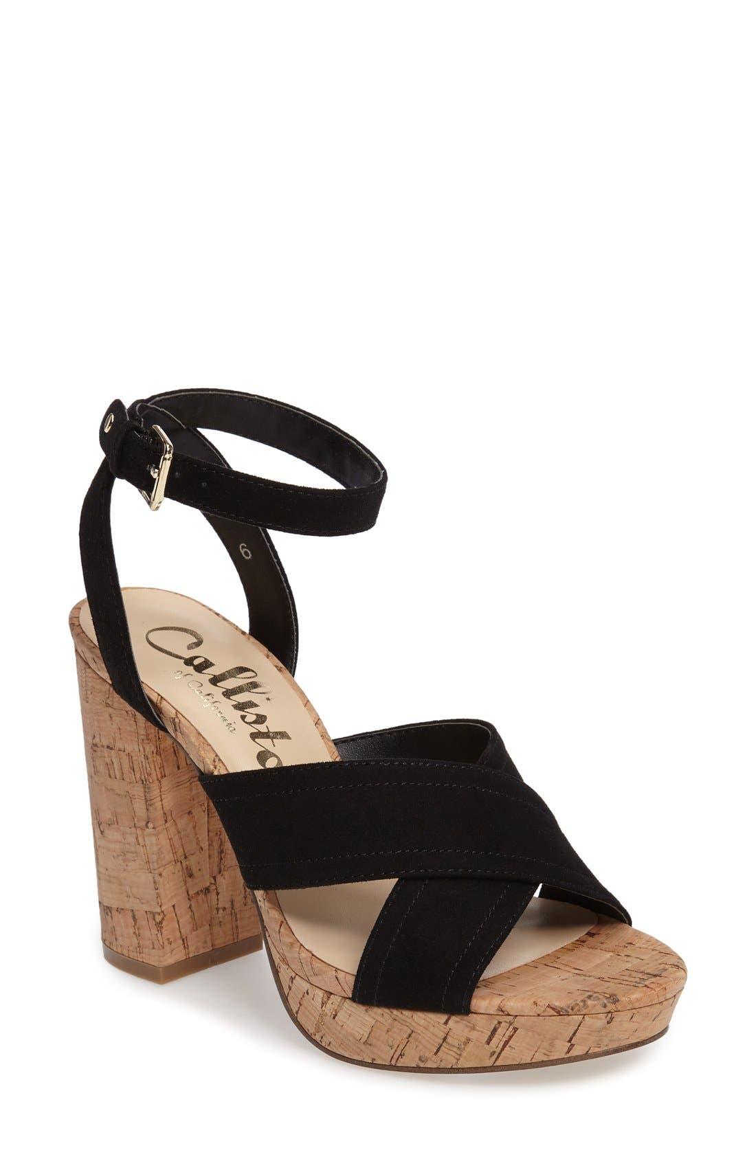 CALLISTO Windye Platform Ankle Strap Sandal