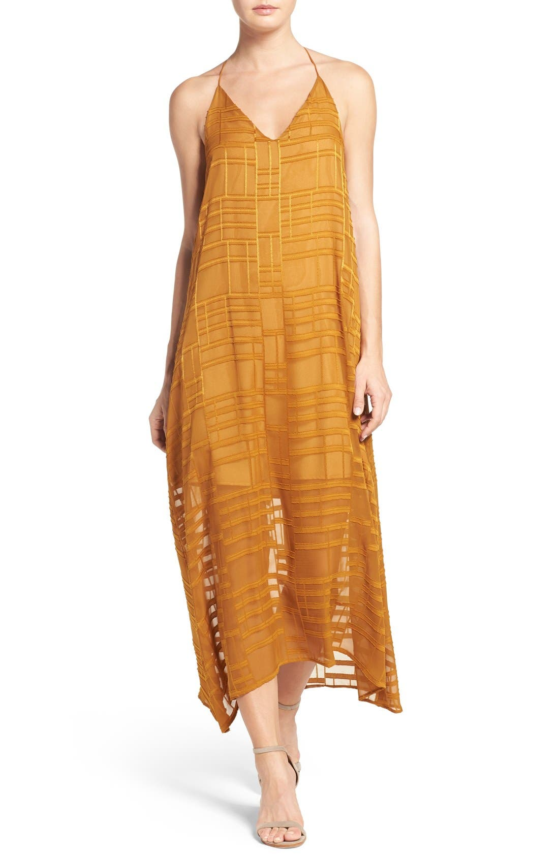 Alternate Image 1 Selected - NSR Embroidered Maxi Dress