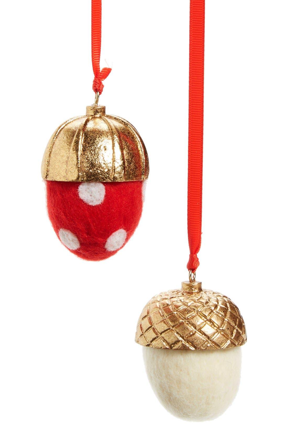 Nordstrom at Home Set of 2 Acorn Ornaments