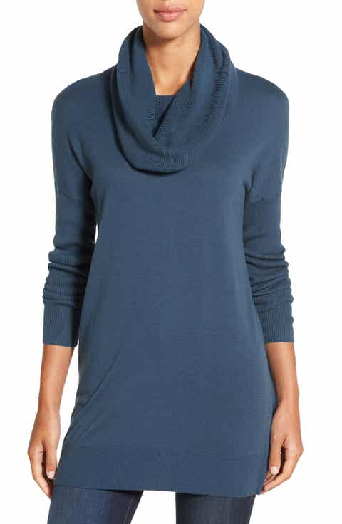 Womens Blue Turtleneck Sweater Baggage Clothing
