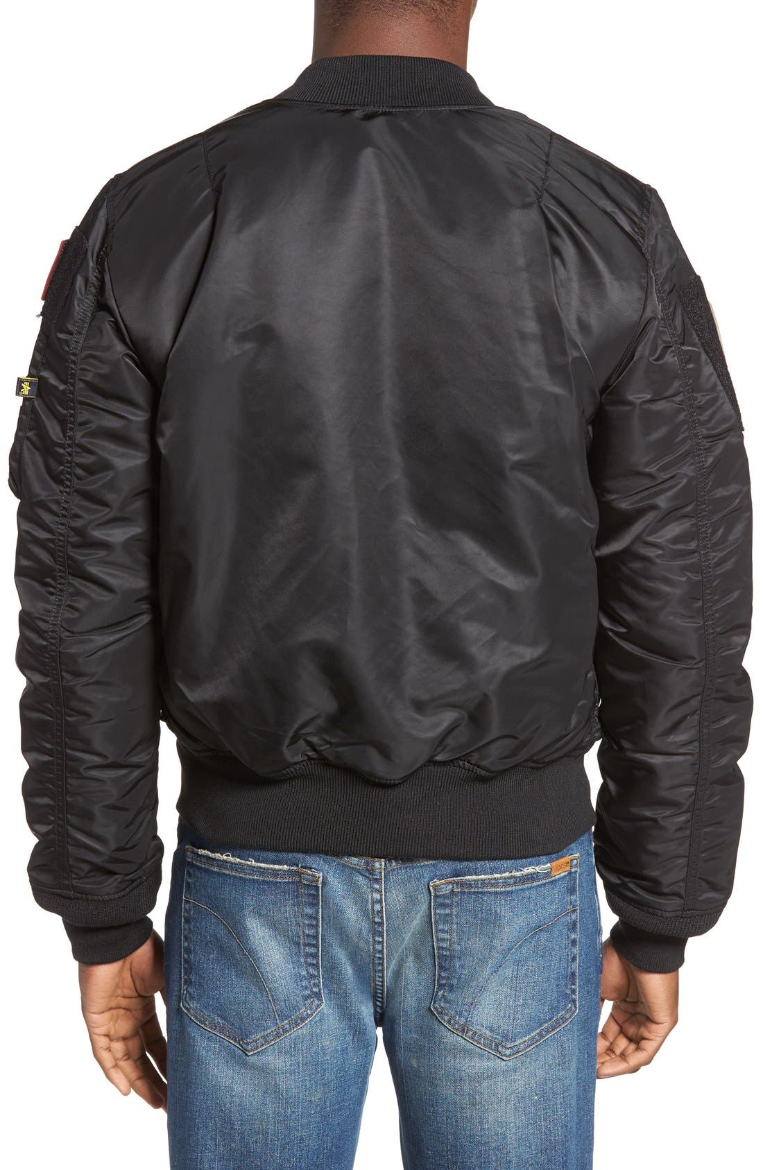 Alternate Image 2  - Alpha Industries Slim Fit Reversible MA-1 Flex Bomber Jacket