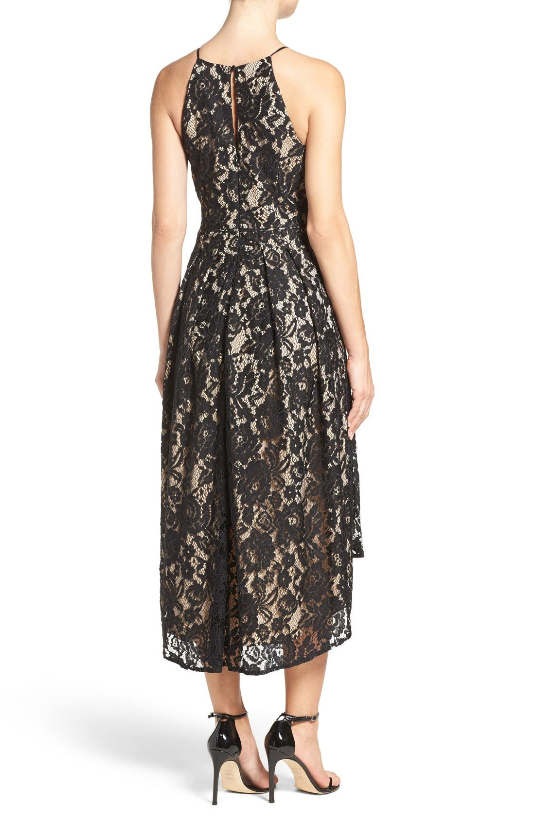 Alternate Image 2  - Aidan by Aidan Mattox Lace Fit & Flare Dress