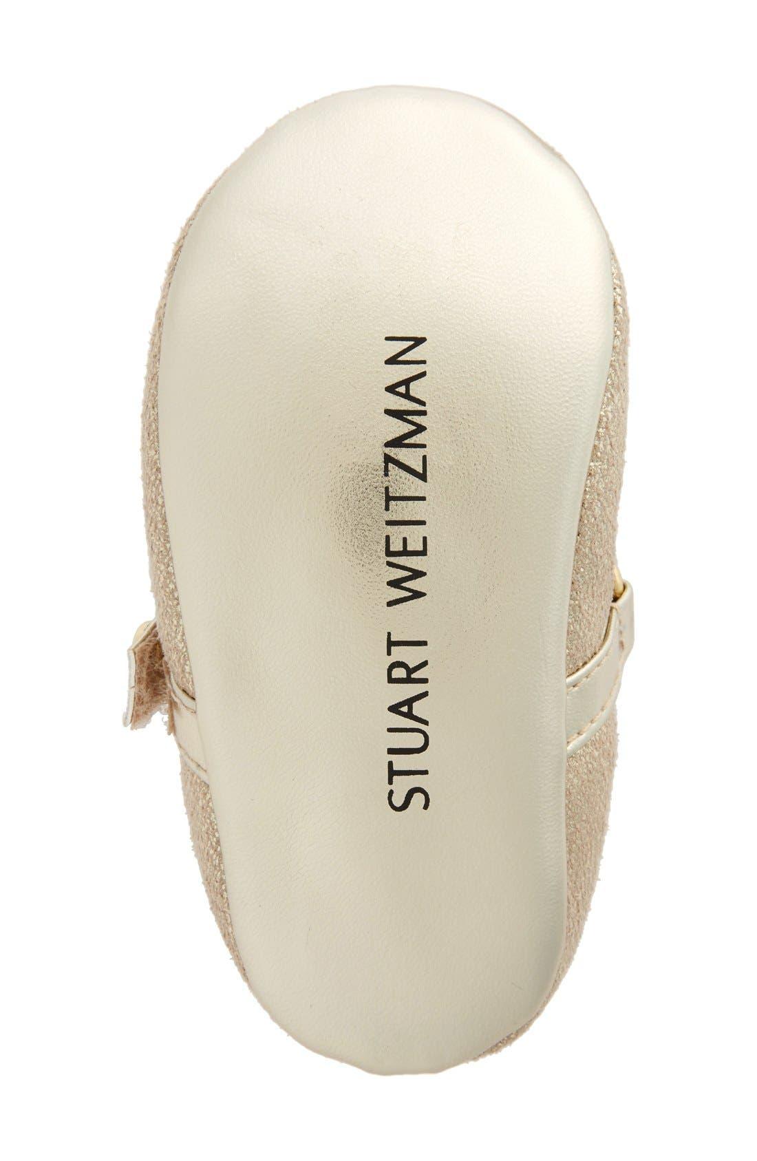 Alternate Image 4  - Stuart Weitzman Nameplate Mary Jane Crib Shoe (Baby)