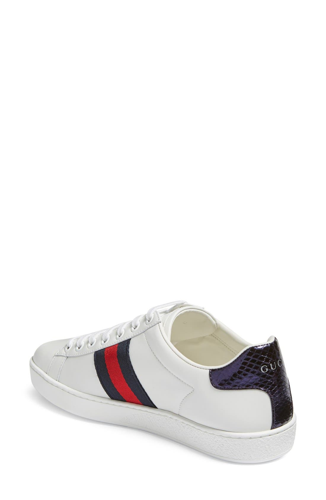 New Age Snake Embellished Sneaker,                             Alternate thumbnail 2, color,                             White Multi