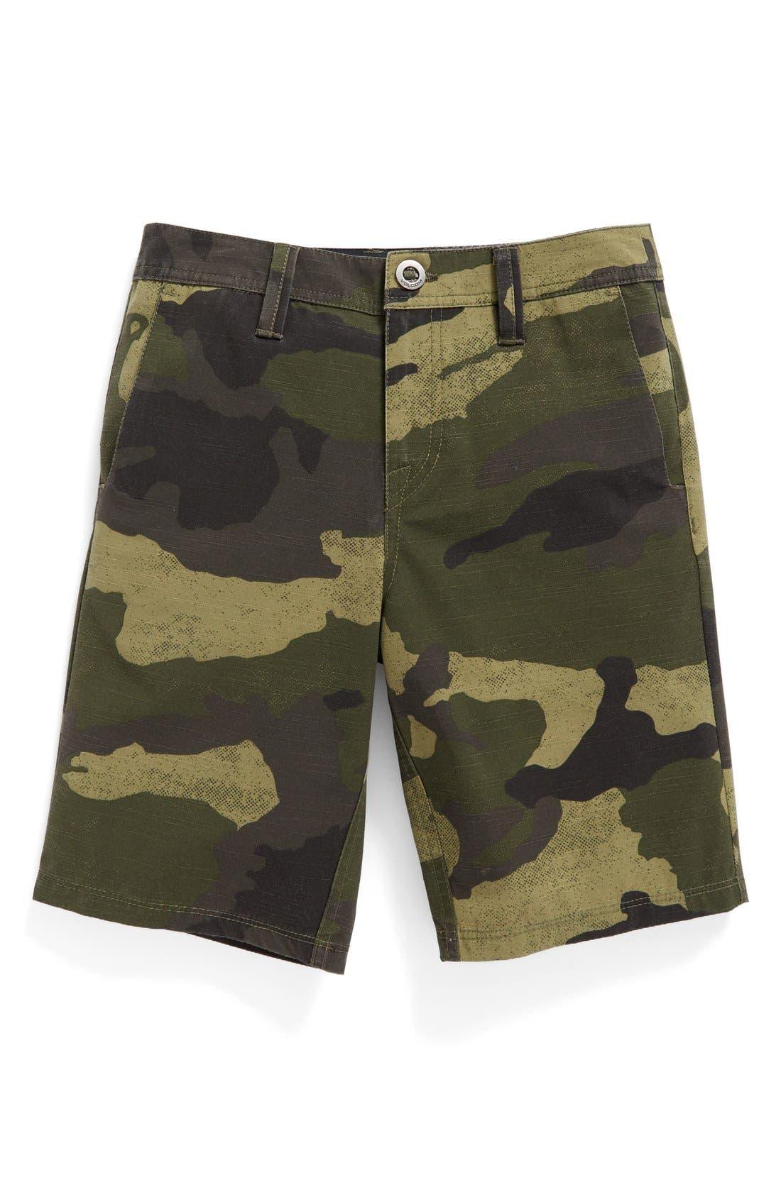 Camo Hybrid Shorts,                             Main thumbnail 1, color,                             Light Army