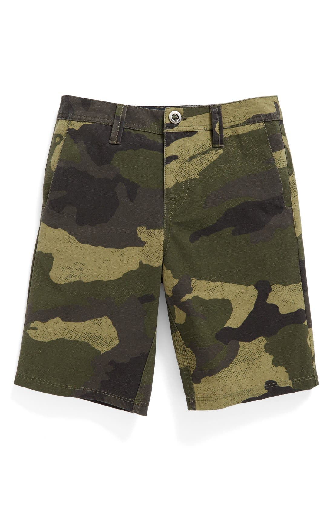 Main Image - Volcom Camo Hybrid Shorts (Big Boys)