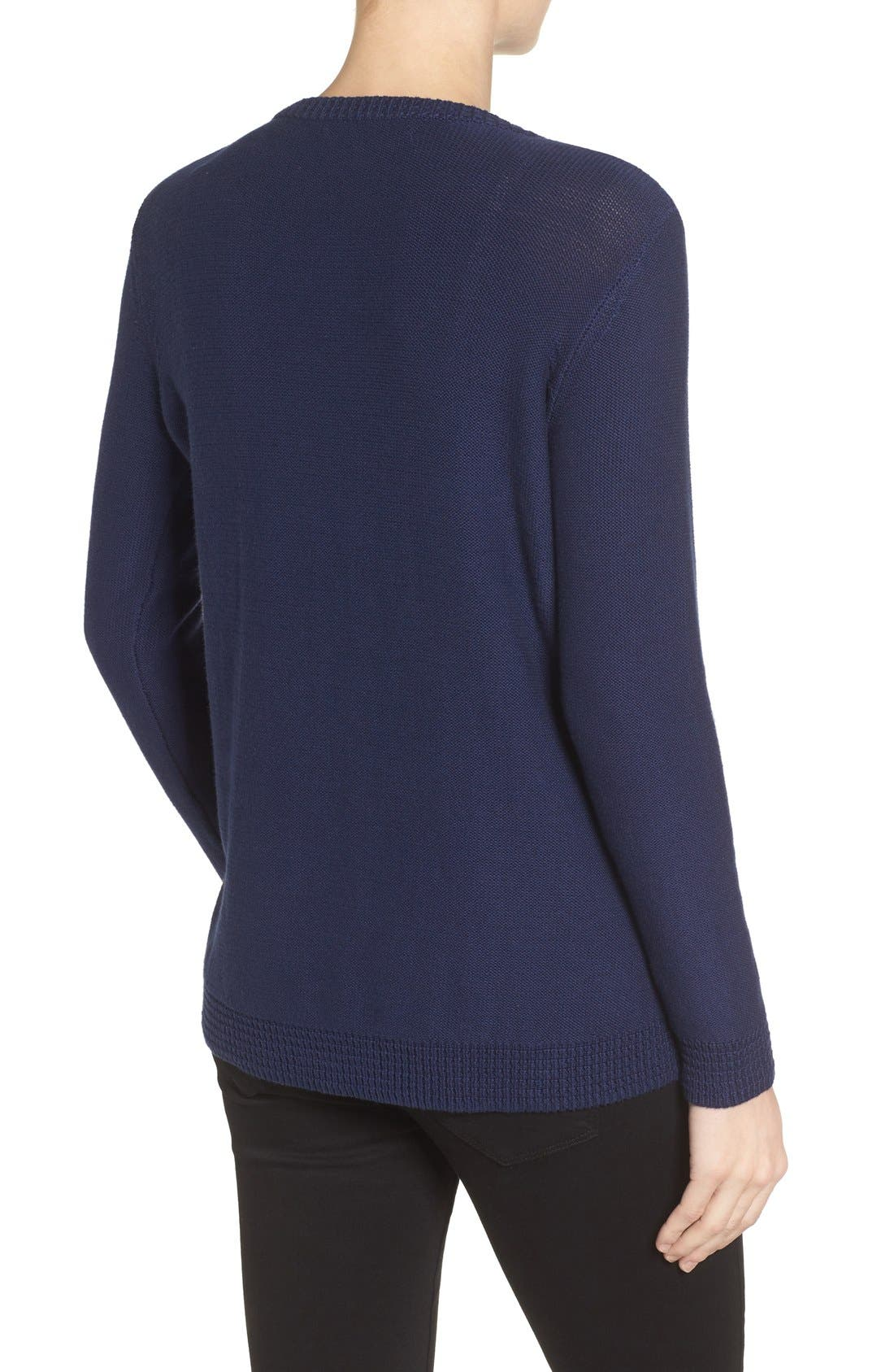 Wiley Maternity/Nursing Sweatshirt,                             Alternate thumbnail 2, color,                             Navy
