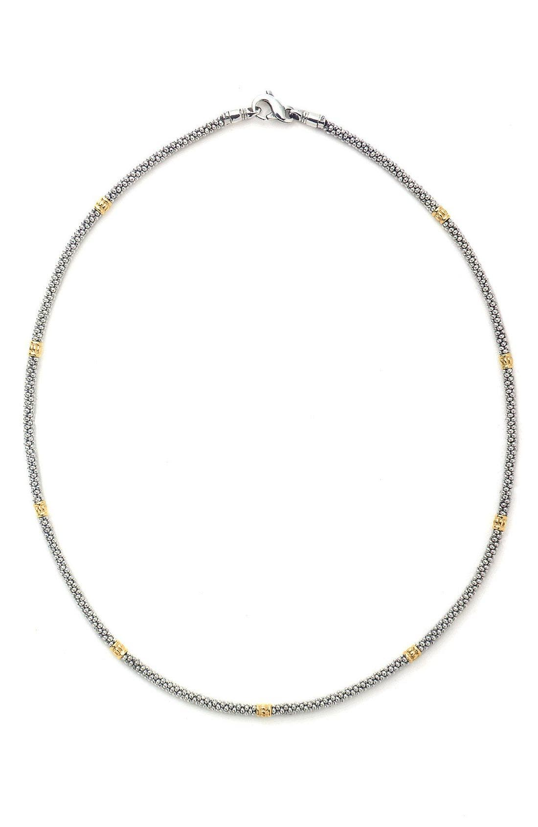 Caviar Rope Necklace,                             Main thumbnail 1, color,                             Silver/Gold