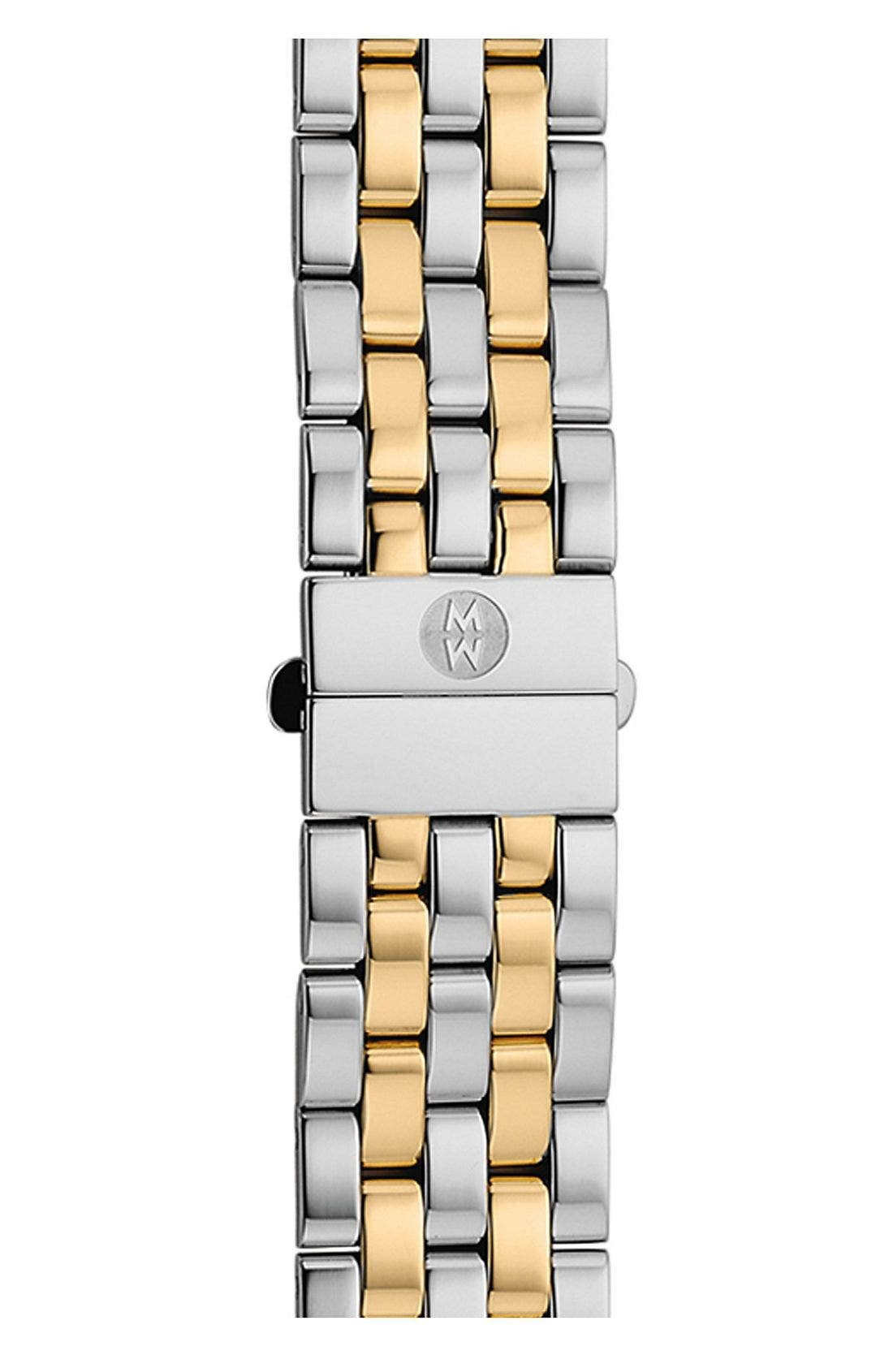 Urban Mini 16mm Two-Tone Bracelet Watchband,                             Main thumbnail 1, color,                             Silver/ Gold
