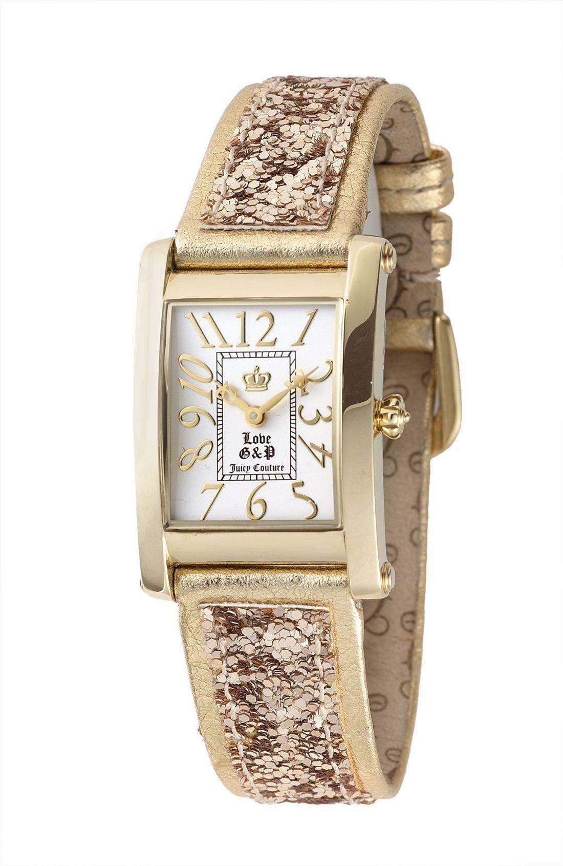 Main Image - Juicy Couture 'Zoe' Glitter Watch