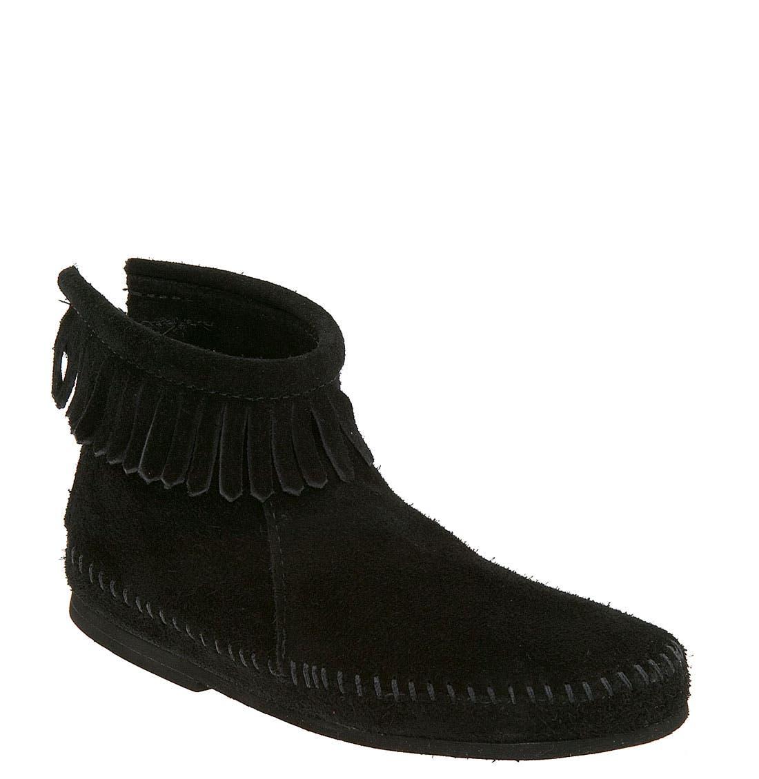 Minnetonka Back Zip Boot (Toddler & Little Kid)