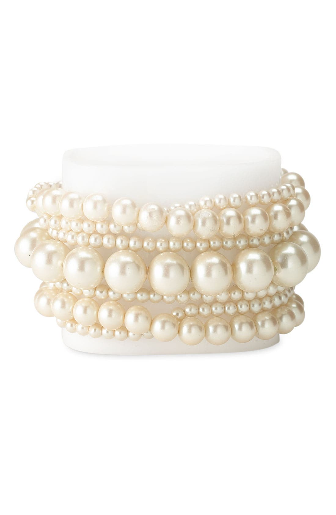 Alternate Image 1 Selected - Nordstrom Glass Stretch Pearl Bracelet