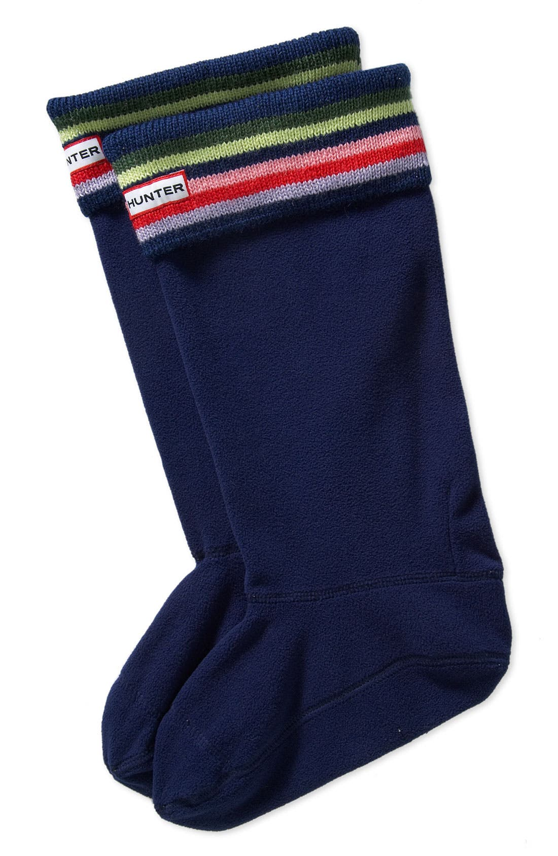 Main Image - Hunter Tall Stripe Cuff Welly Socks