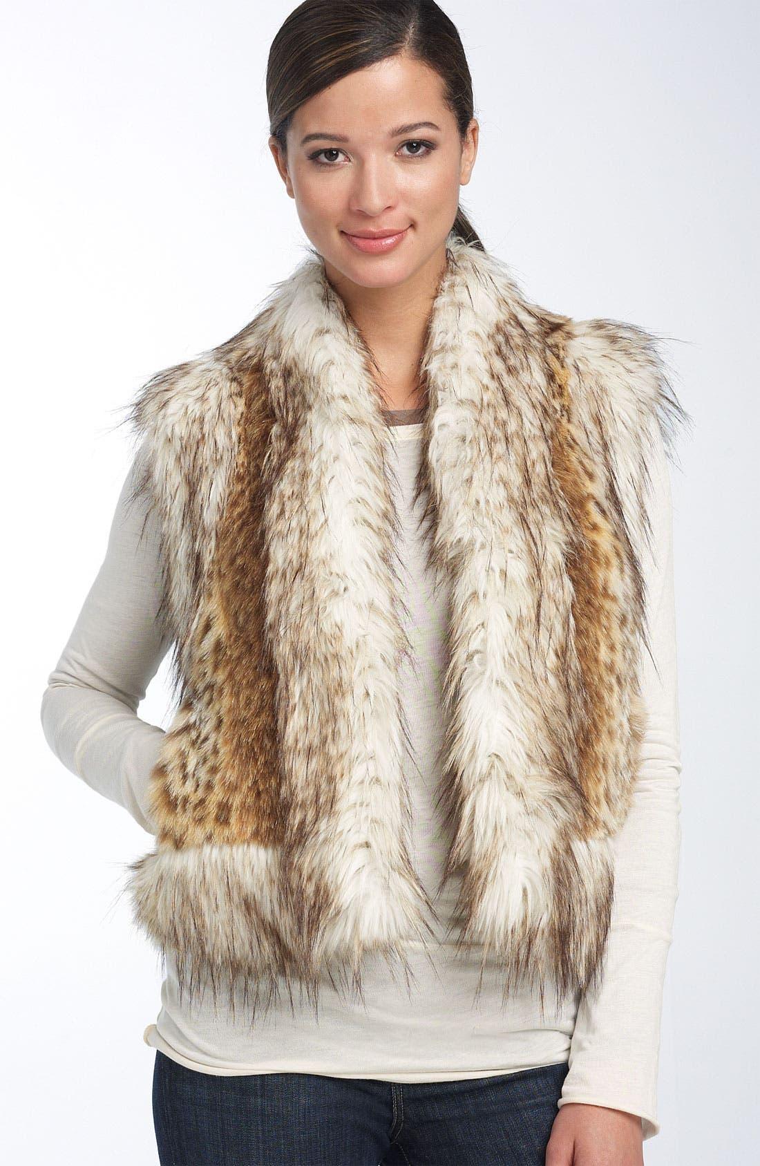 Alternate Image 1 Selected - Damselle Faux Lynx Fur Vest