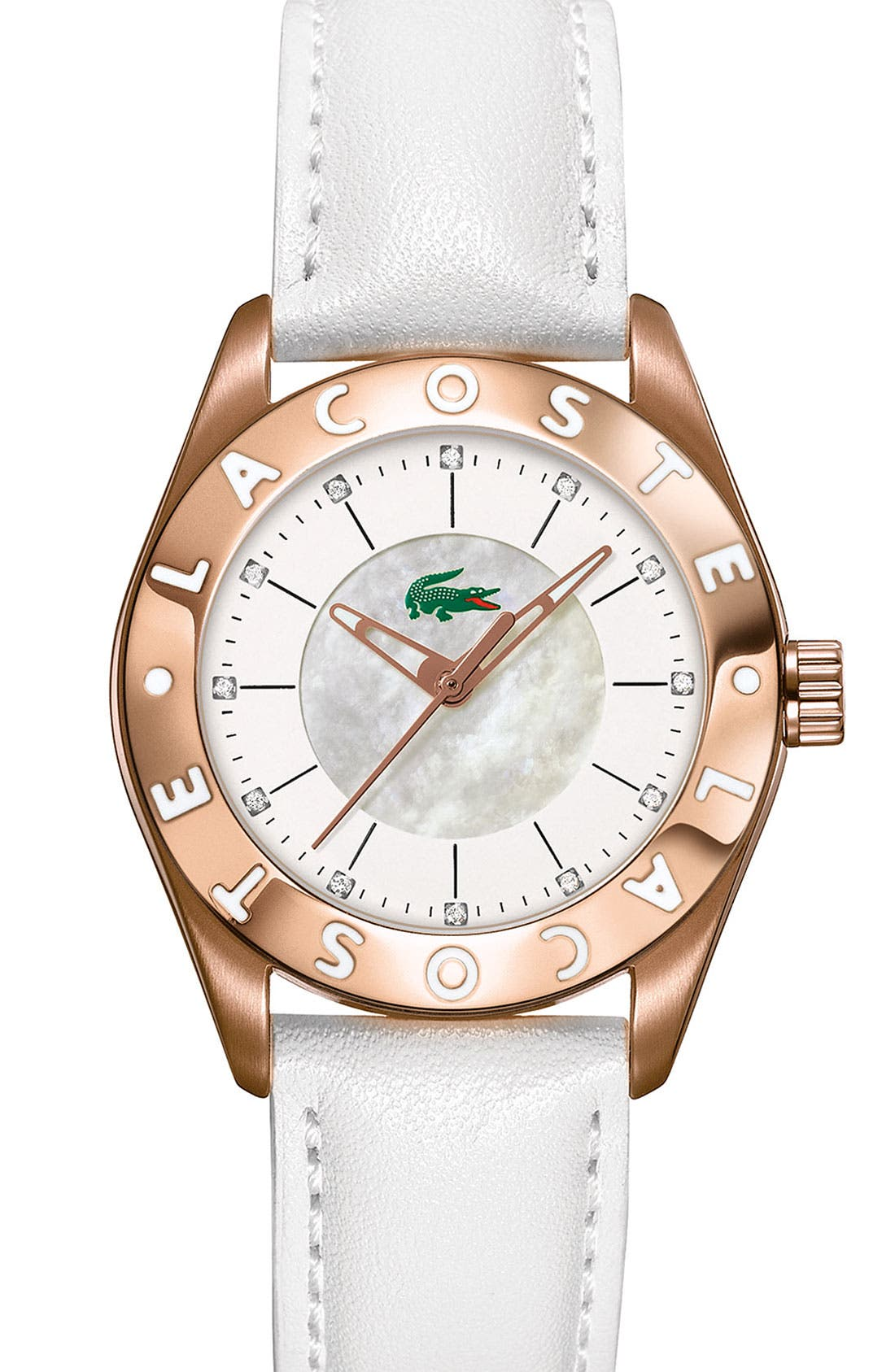 Alternate Image 1 Selected - Lacoste 'Biarritz' Stainless Steel Watch