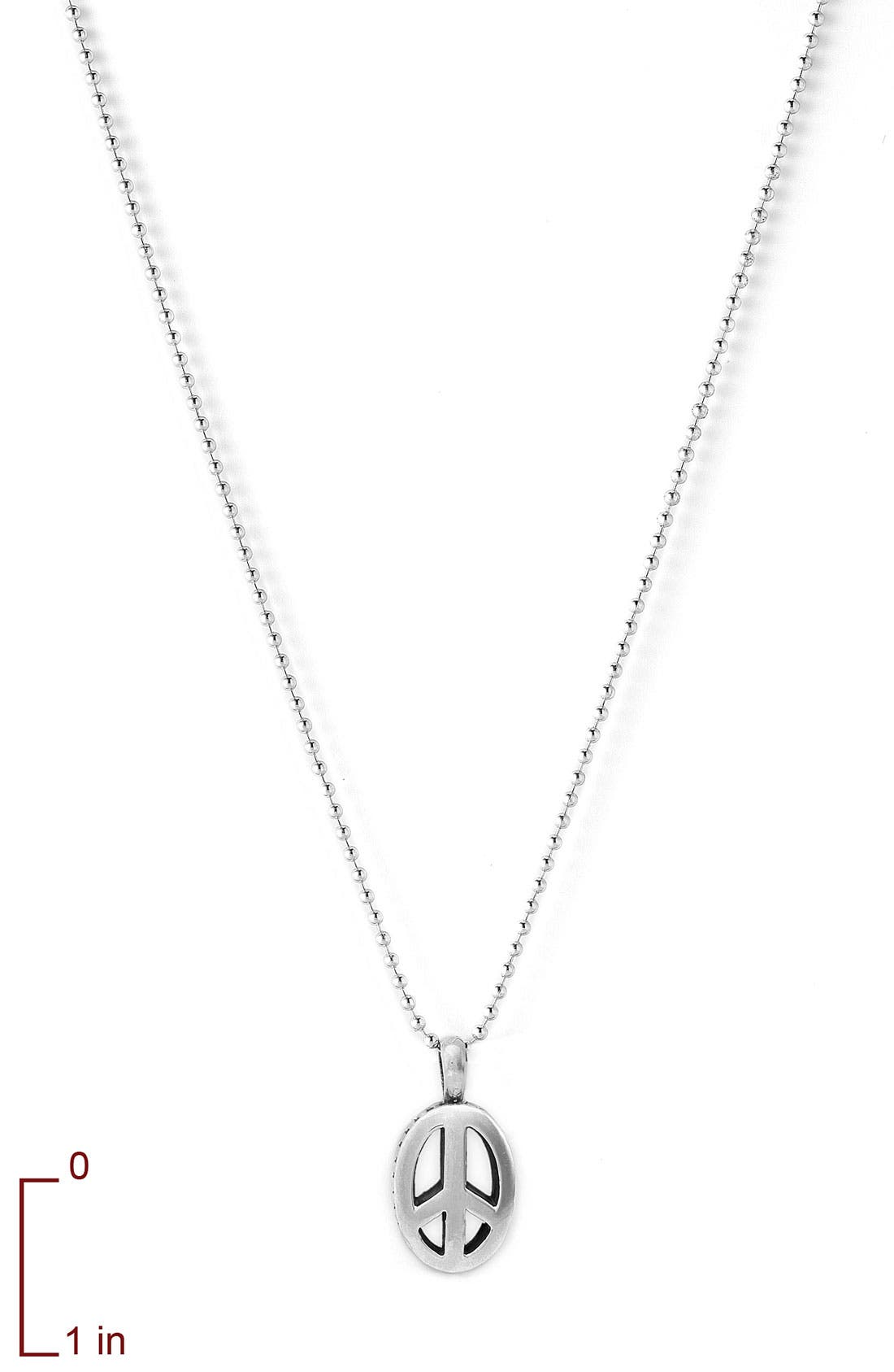 Alternate Image 2  - Lagos Sterling Peace Long Pendant Necklace