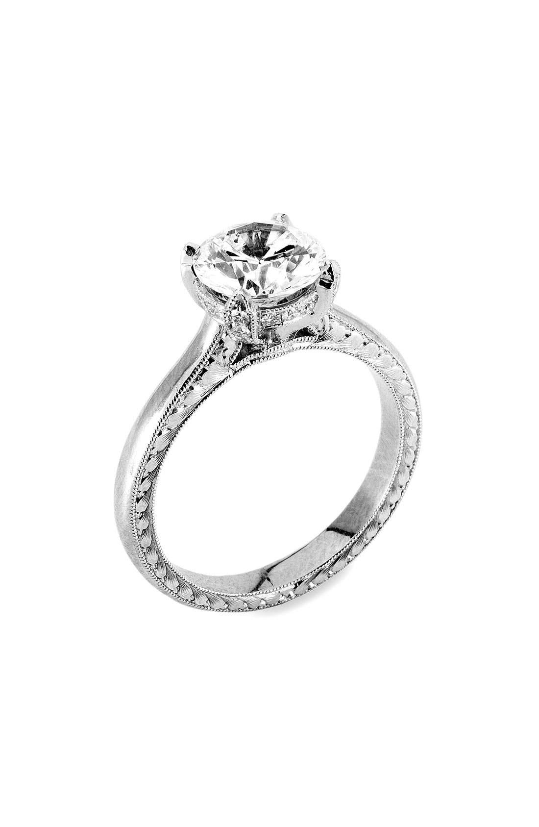 Alternate Image 1 Selected - Jack Kelége Platinum & Diamond Setting Ring