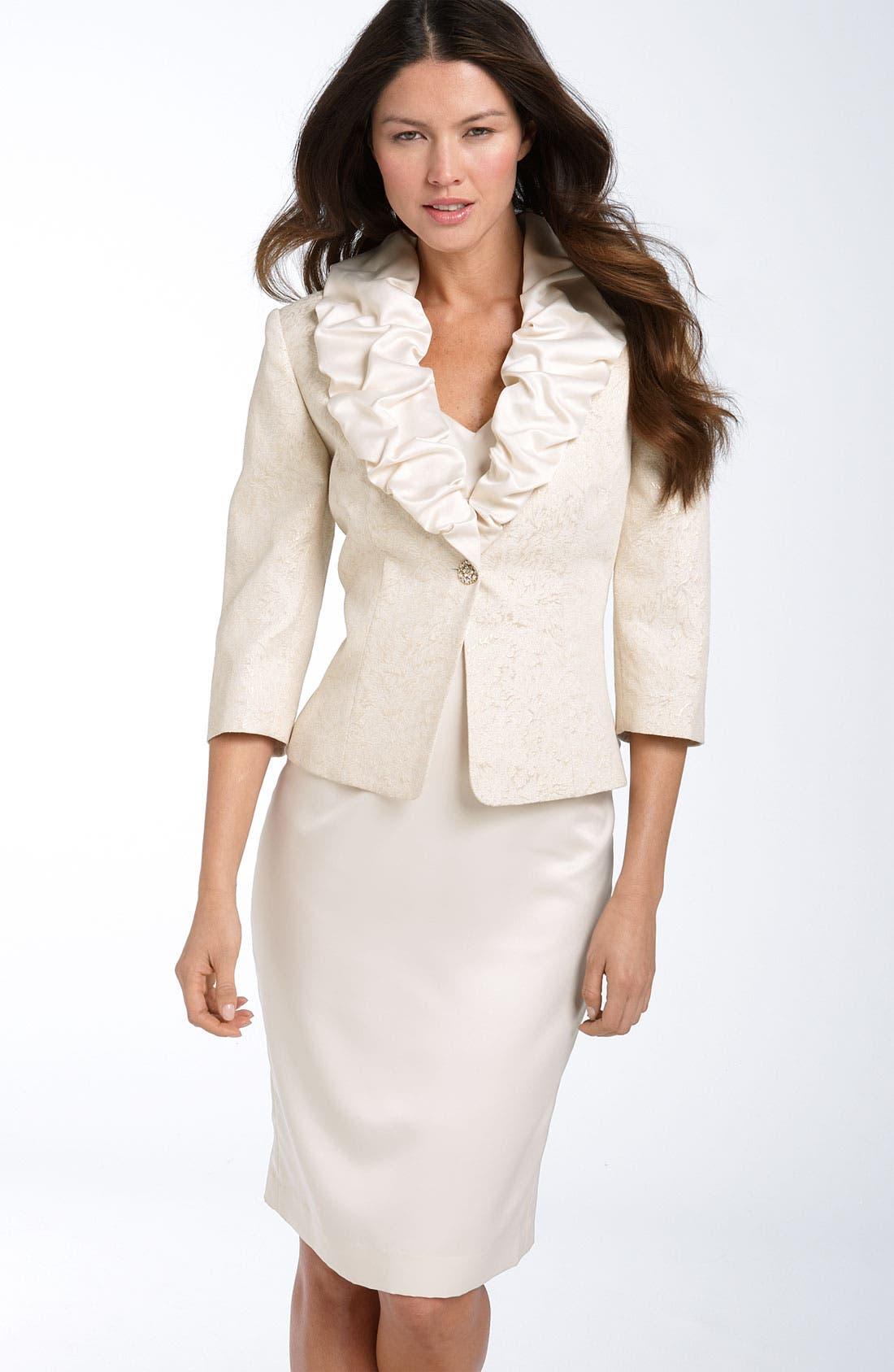 Alternate Image 1 Selected - Adrianna Papell Sheath Dress with Jacquard Jacket