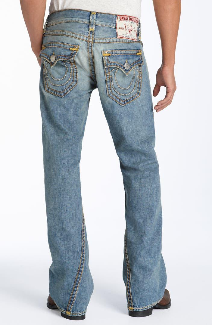 true religion brand jeans 39 joey super t 39 bootcut jeans cowboy medium wash nordstrom. Black Bedroom Furniture Sets. Home Design Ideas
