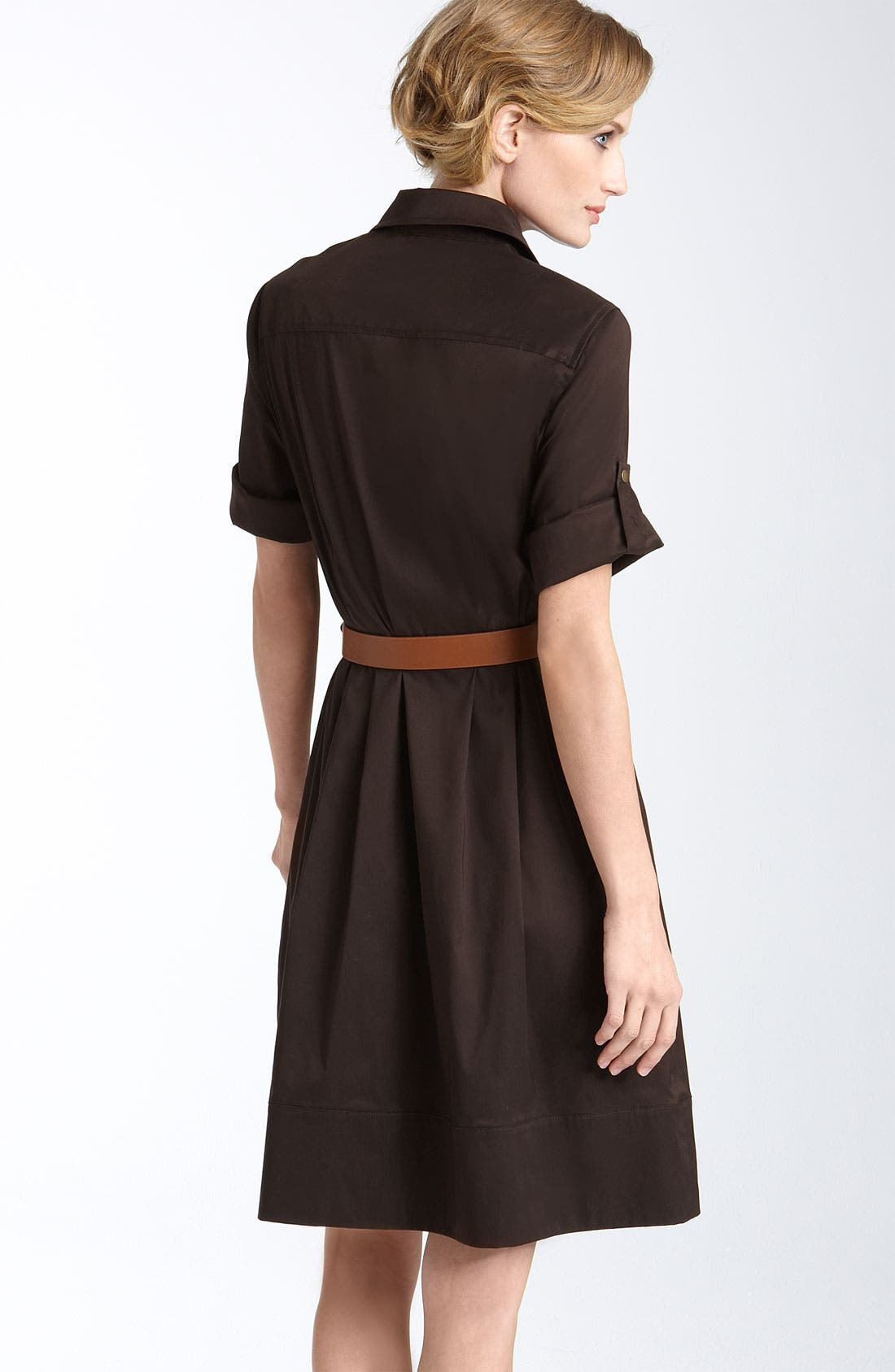 Alternate Image 2  - Suzi Chin for Maggy Boutique Belted Cotton Blend Shirtdress