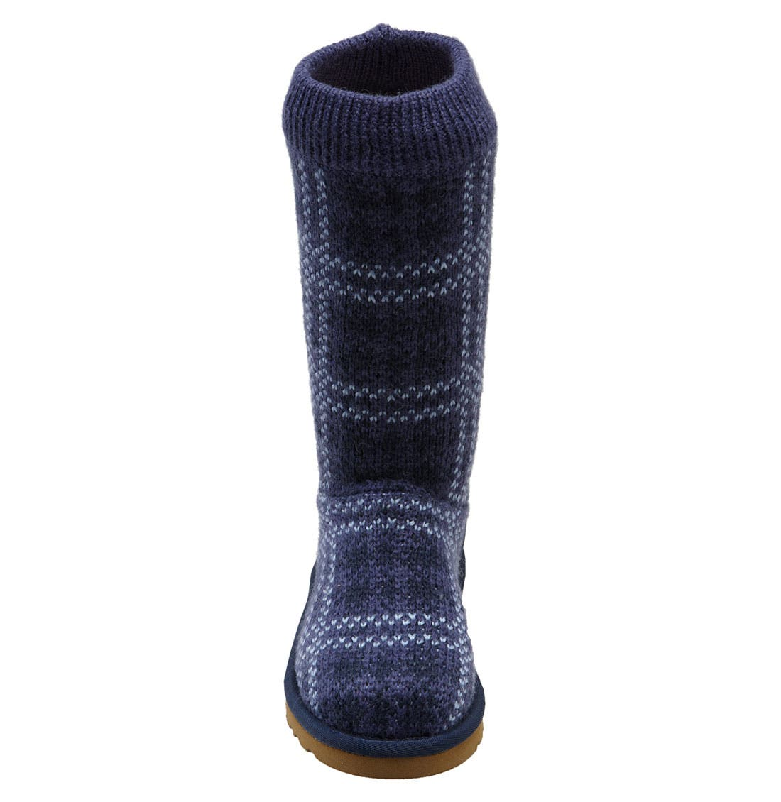 Alternate Image 3  - UGG® Australia Plaid Knit Boot (Toddler, Little Kid & Big Kid)