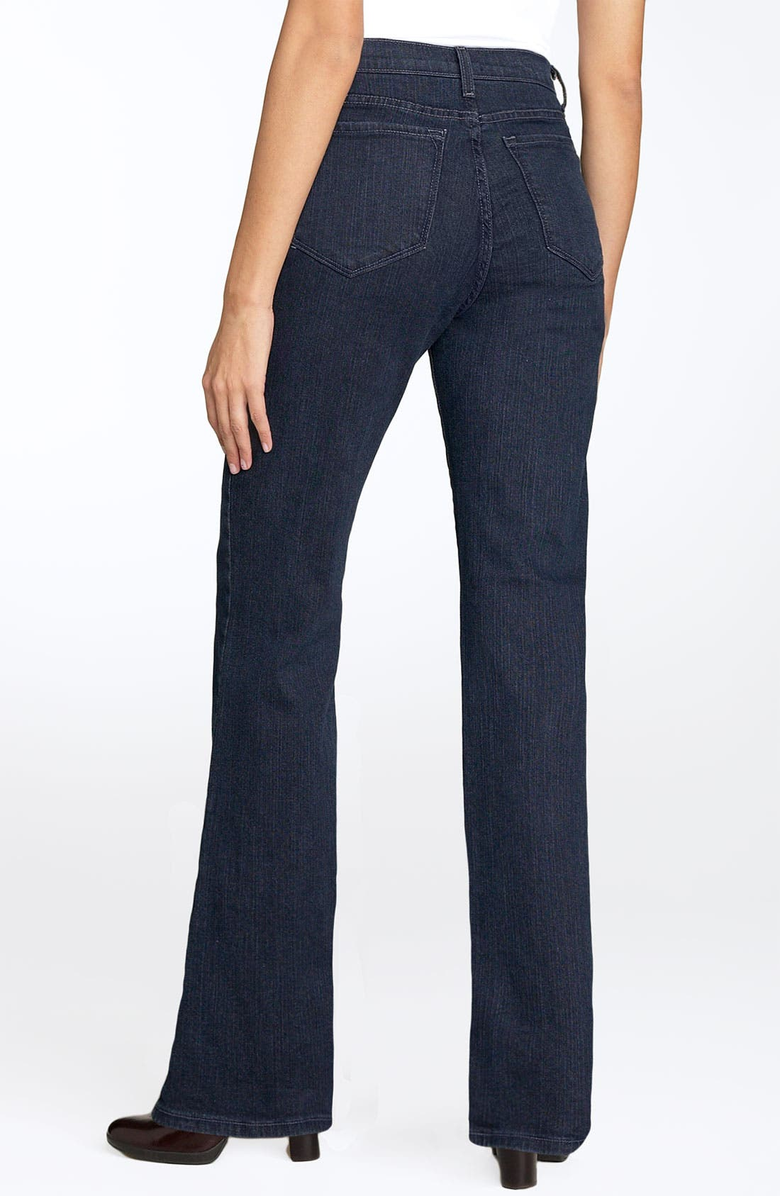 Alternate Image 2  - NYDJ 'Marilyn' Stretch Straight Leg Jeans (Blue Black) (Regular & Petite)