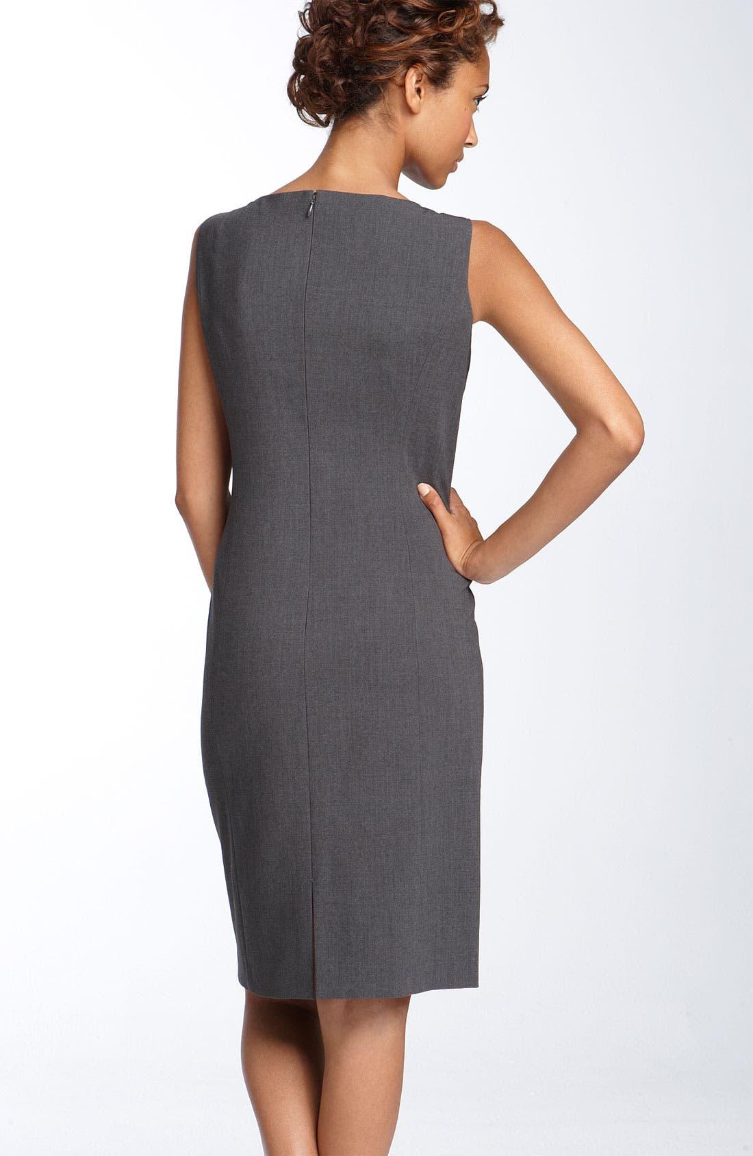 Alternate Image 2  - Tahari by Arthur S. Levine Crepe Sheath Dress