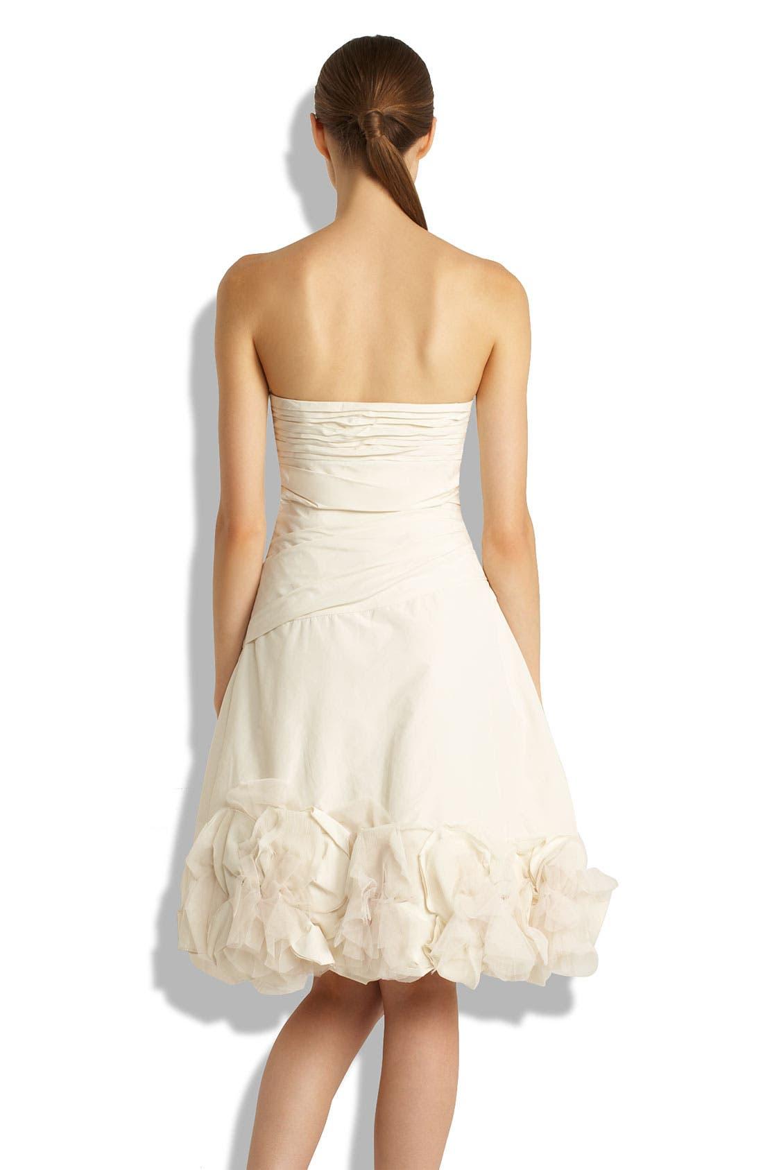 Alternate Image 2  - BCBGMAXAZRIA Strapless Appliqué Dress