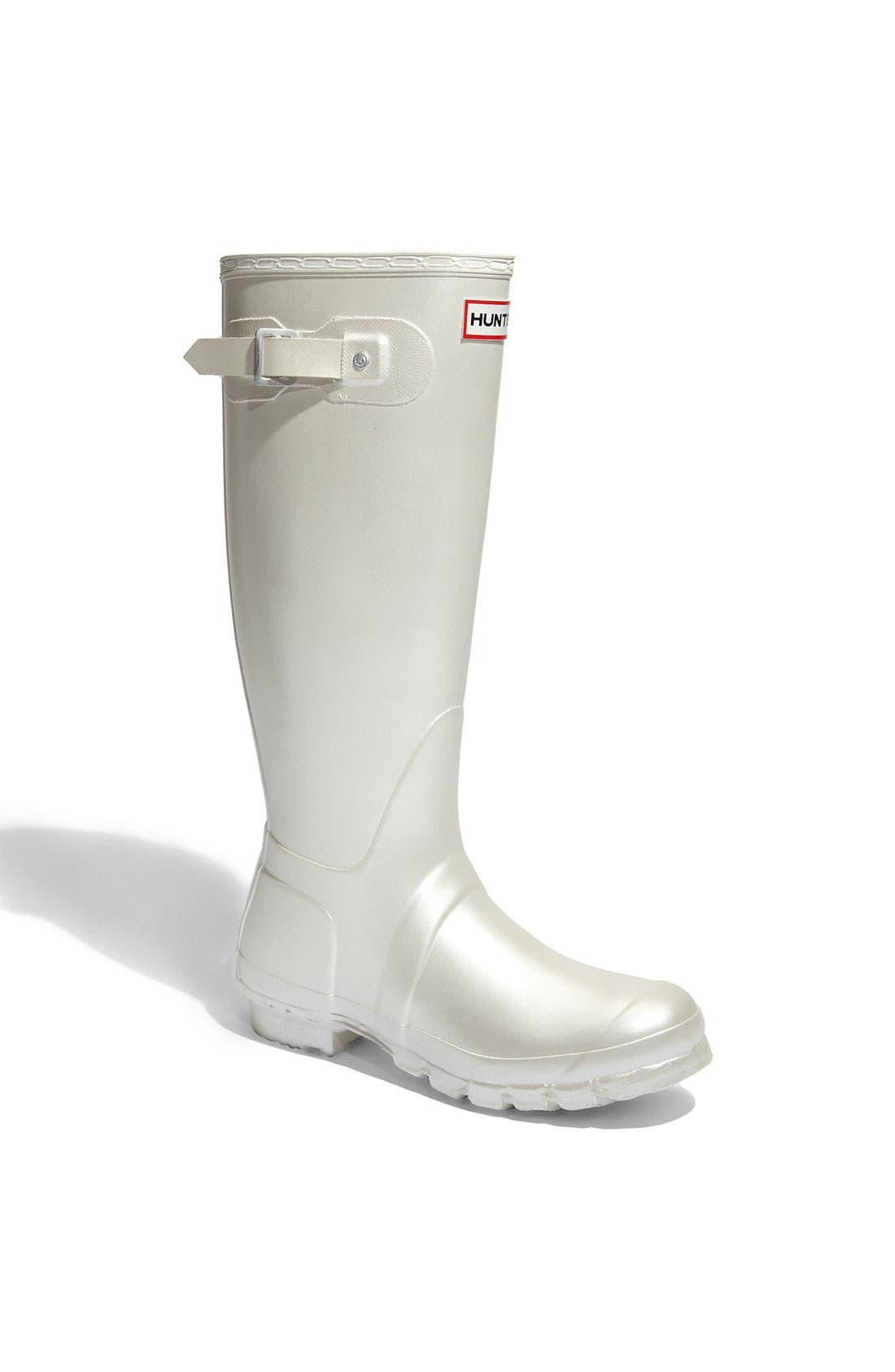 Main Image - Hunter 'Original Tall' Metallic Rain Boot (Women)